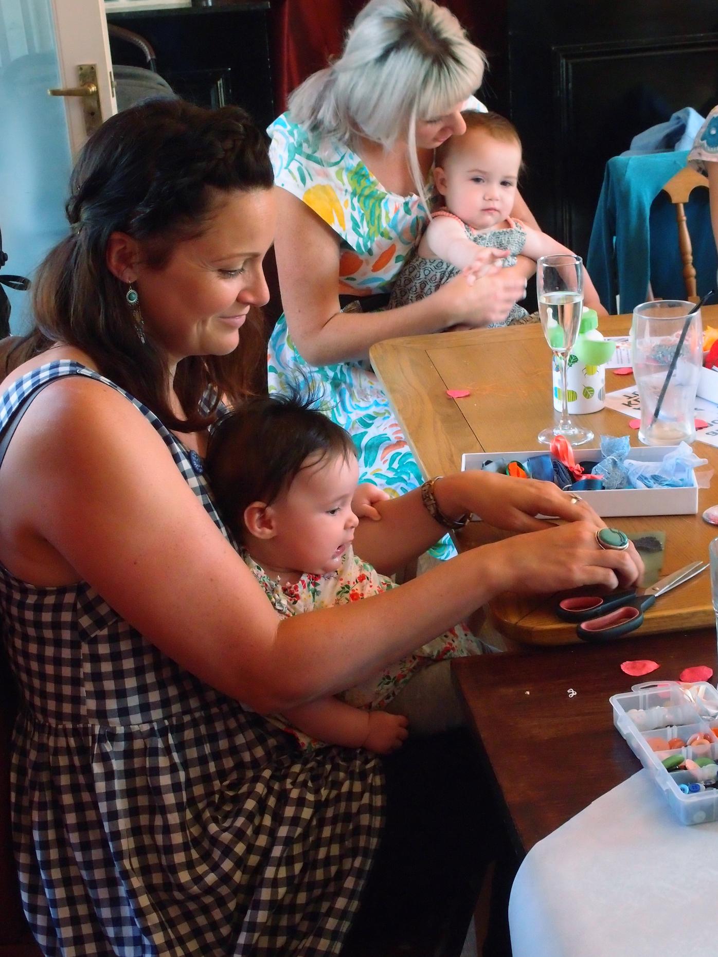Baby Bunting Workshop, Bristol Baby Shower Craft Activity