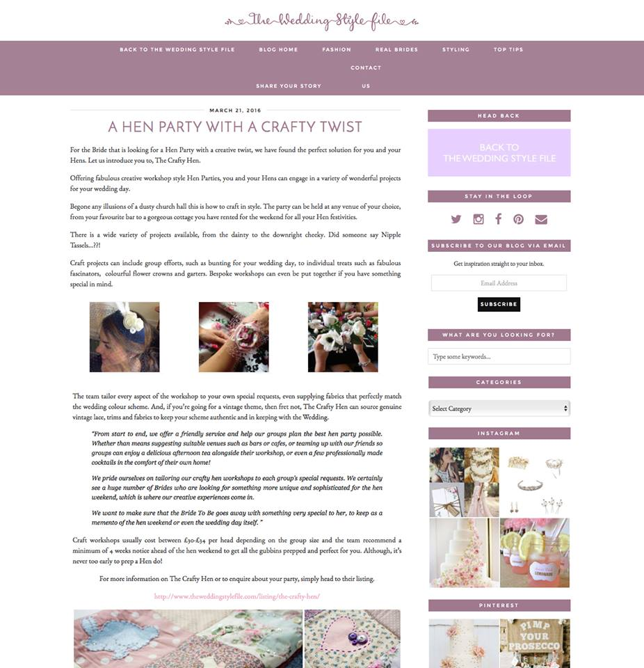 The Wedding Style File