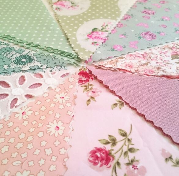 Dusky Pink and Sage Green Wedding Bunting Colour Scheme Florals The Crafty Hen.jpg