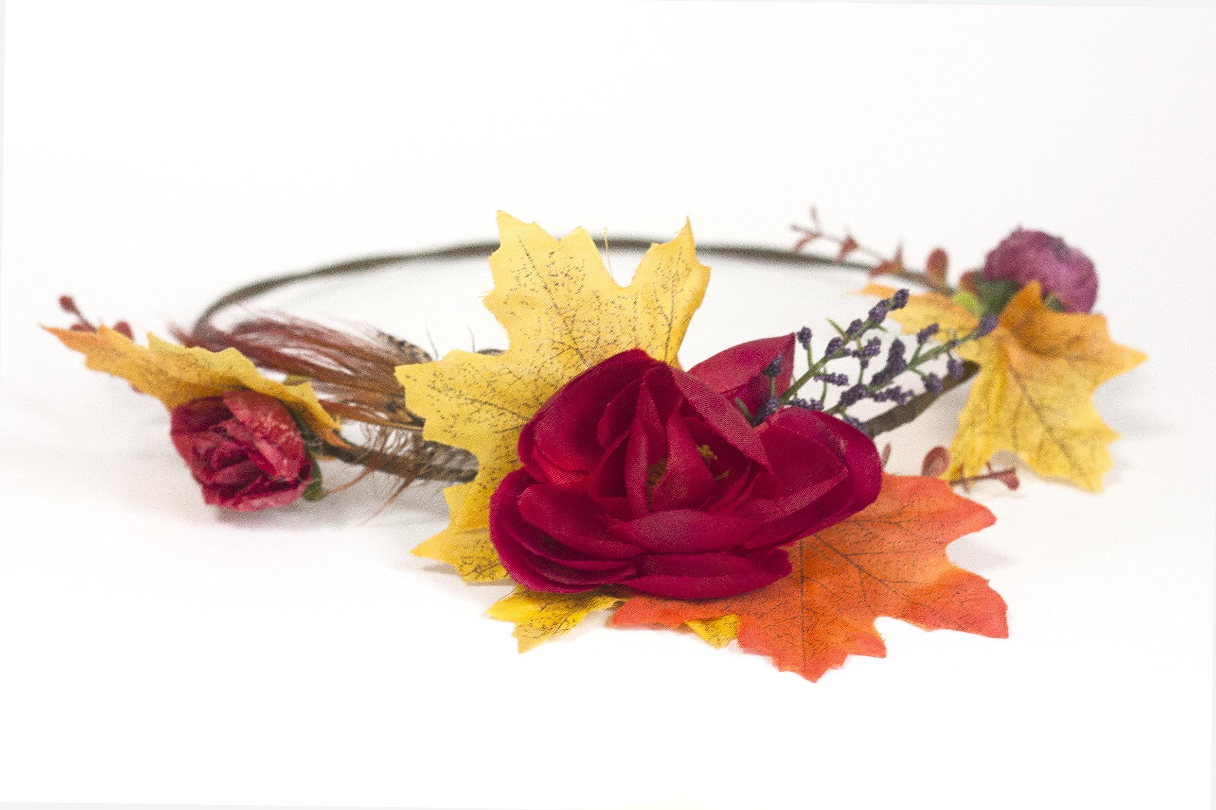 Autumn Flower Crown Workshop The Crafty Hen Party.jpg