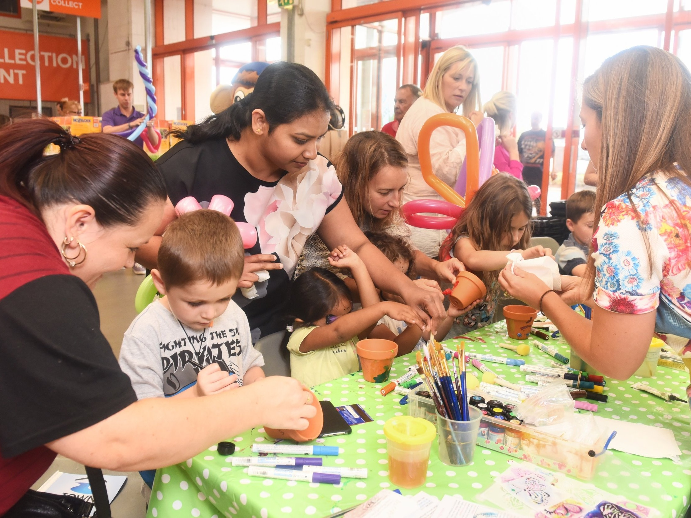 Free flowing craft station events nationwide