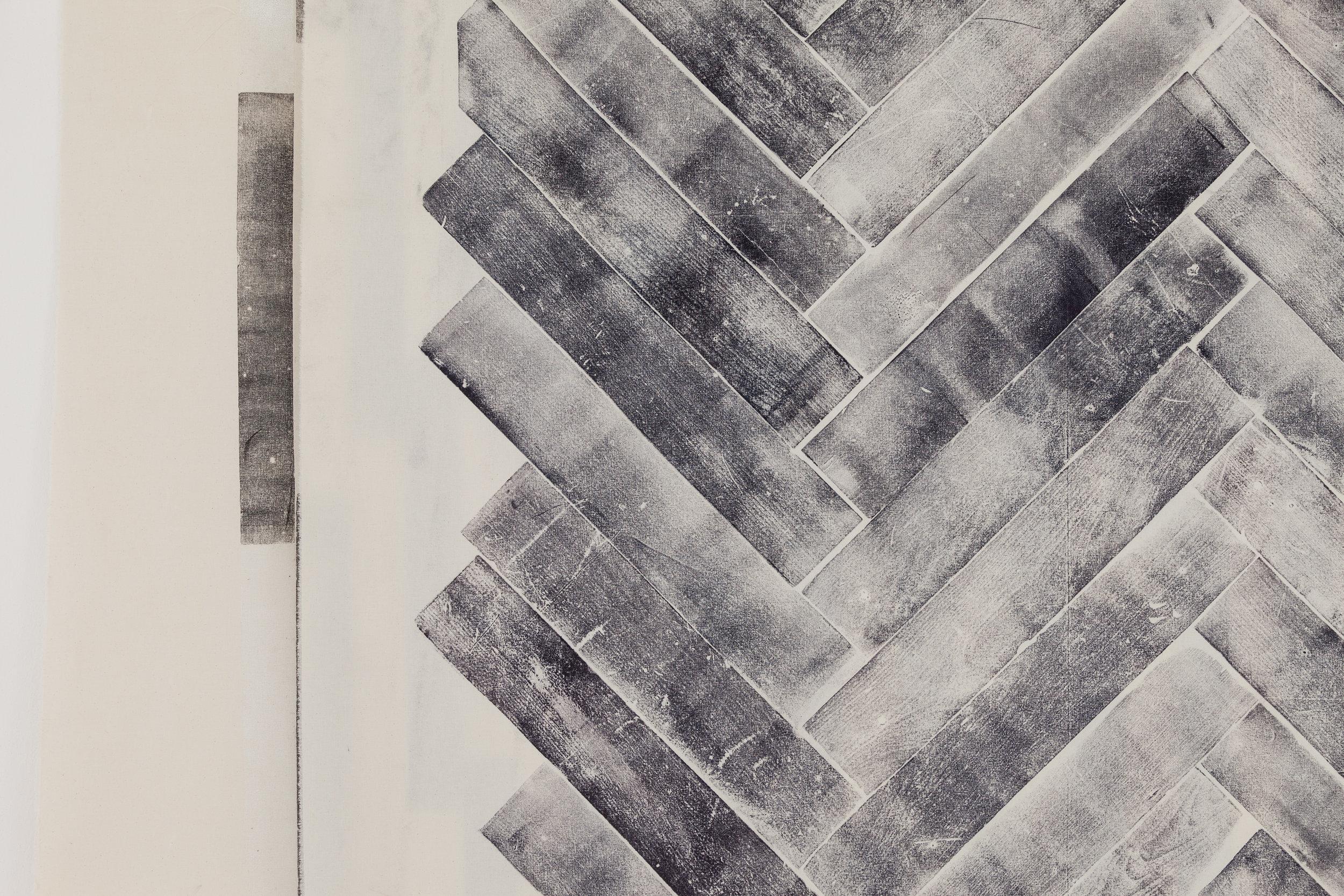 Detail Aus der Serie All Tomorrows Parties 2012 Holzdruck auf Stoff ca 300 x 300 cm