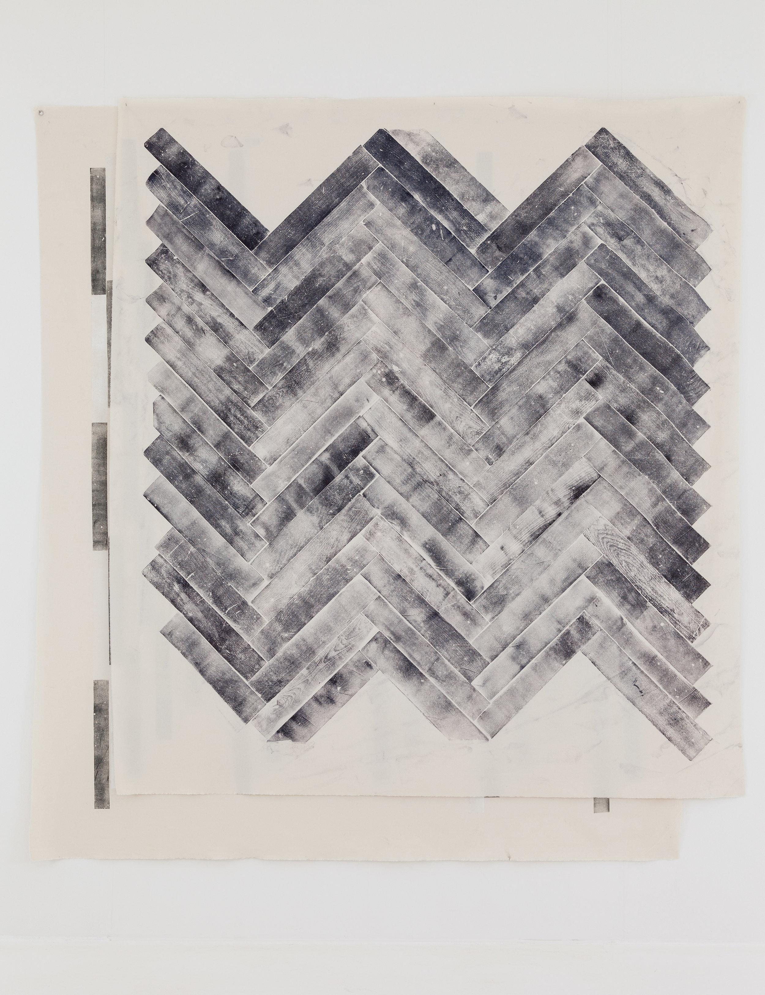 Aus der Serie All Tomorrows Parties,2012 Holzdruck auf Stoff ca 300 x 300 cm