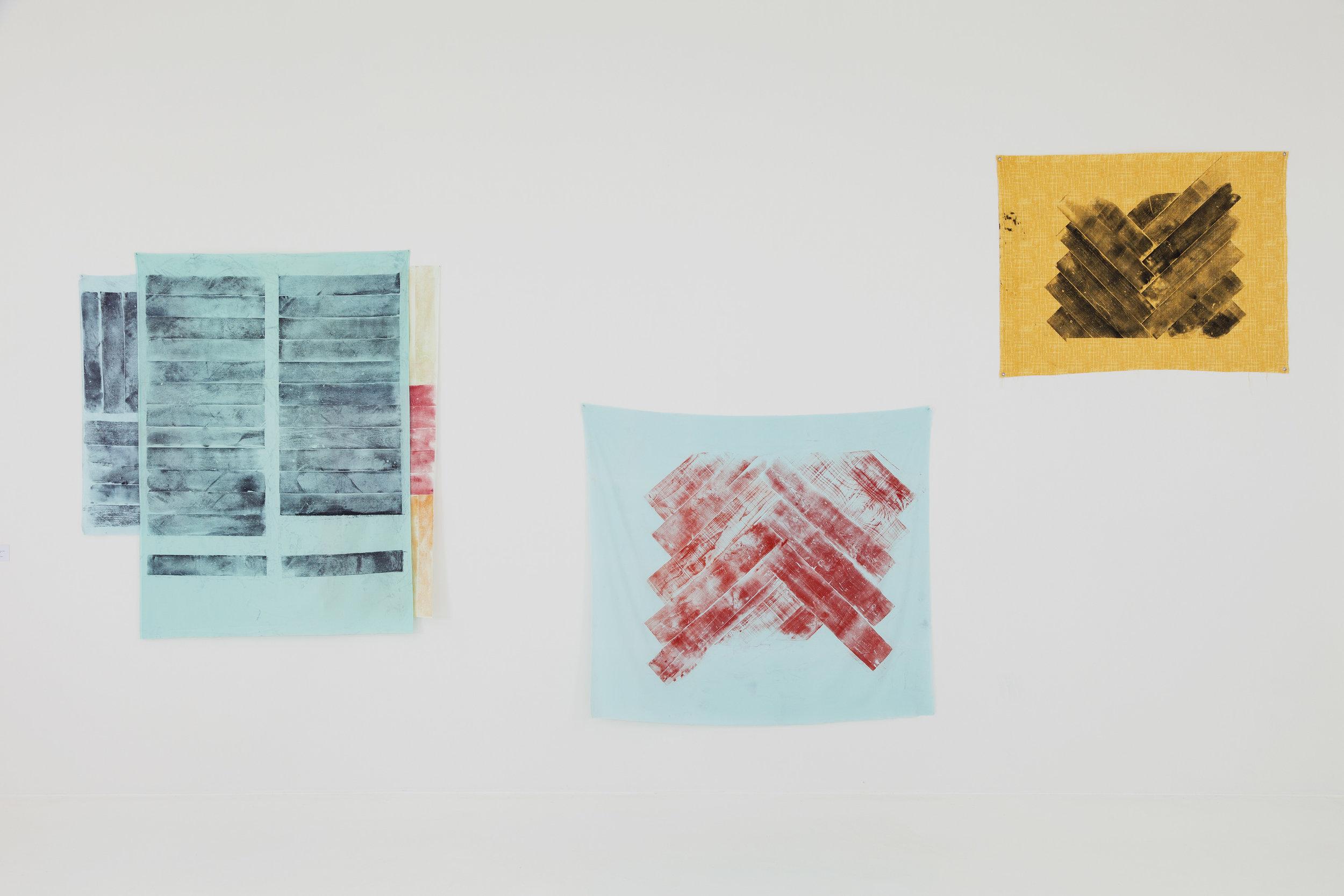 Aus der Serie All Tomorrows Parties 2012 Holzdruck auf Stoff diverse Grössen