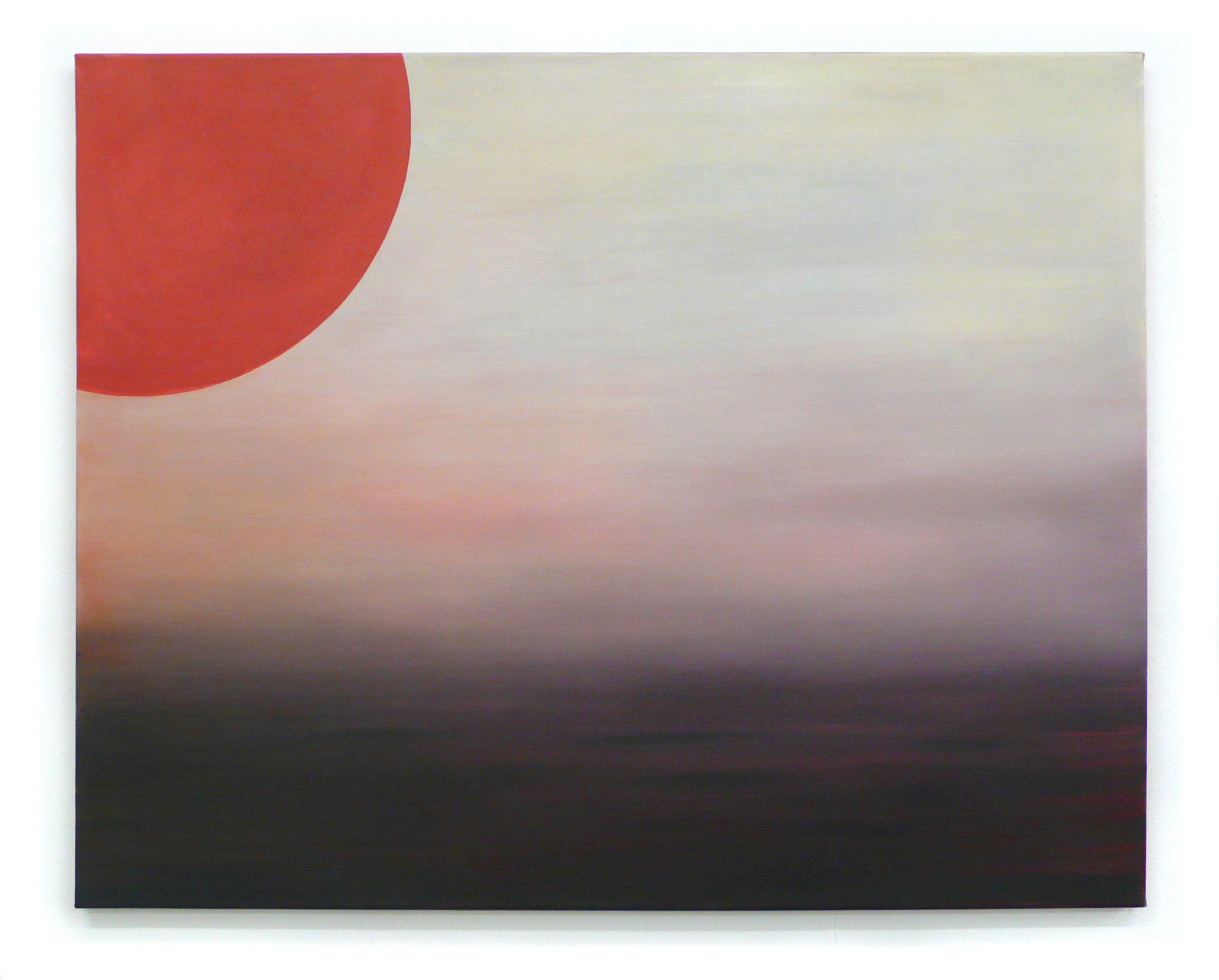 Sonnenuntergang Öl auf Leinwand, bemalte Baumwolle 74 x 93 cm