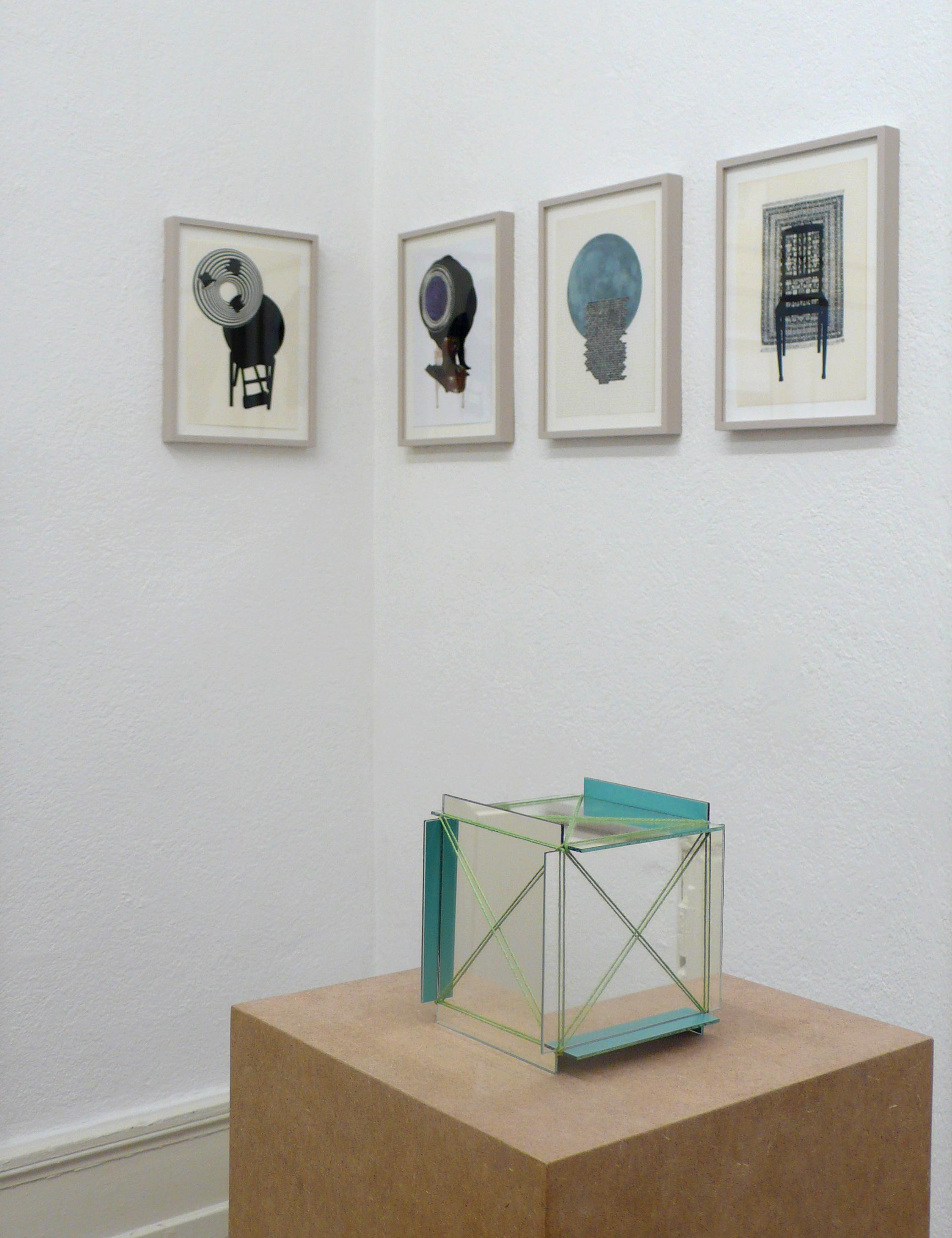 REVEN, 2010 Spiegel, Schnur 12 x 12 cm