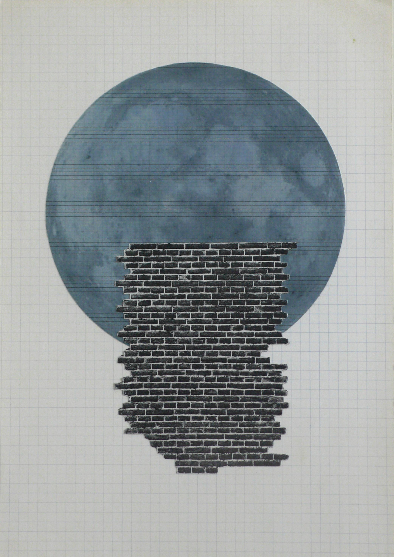 Ohne Titel, 2009/2010 Collagen auf Papier 29.7 x 21 cm