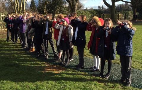 Shrewley Class taking part in their birdwatch