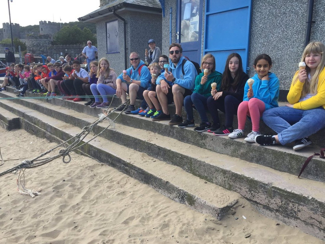 Well deserved ice-creams all round after a fantastic week!