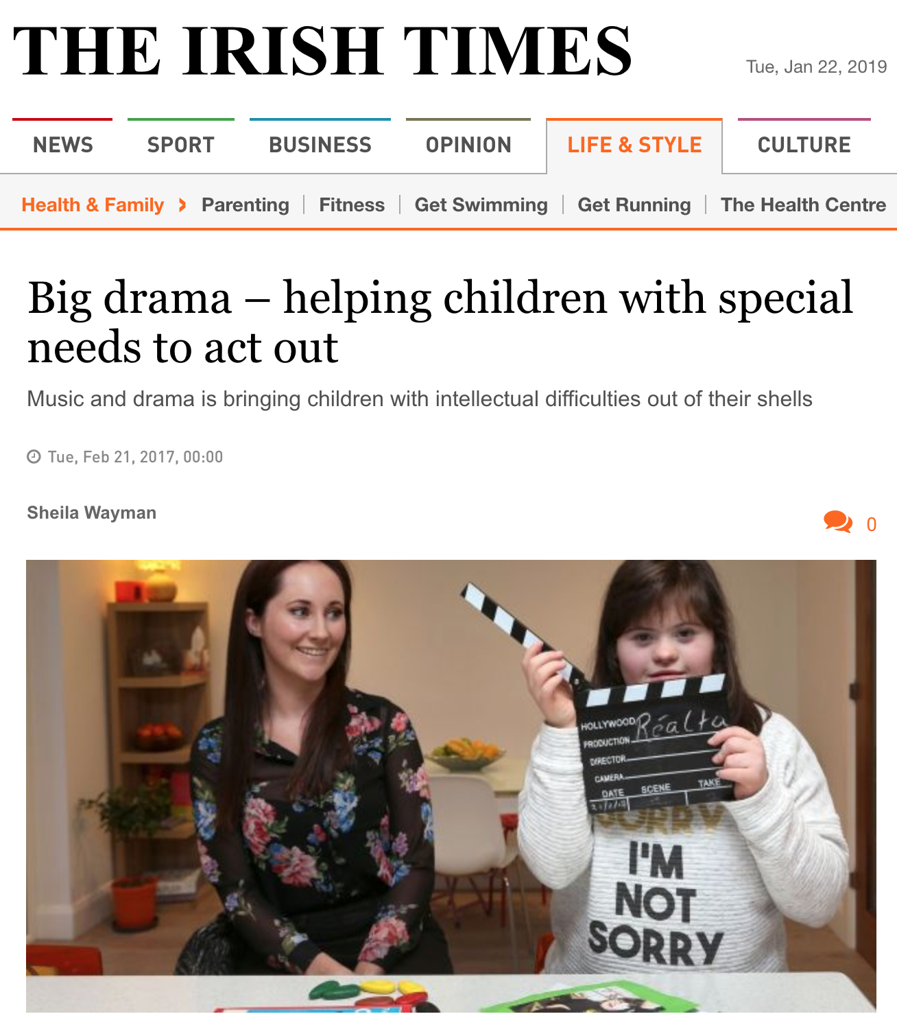 Read the full article in The Irish Times  here