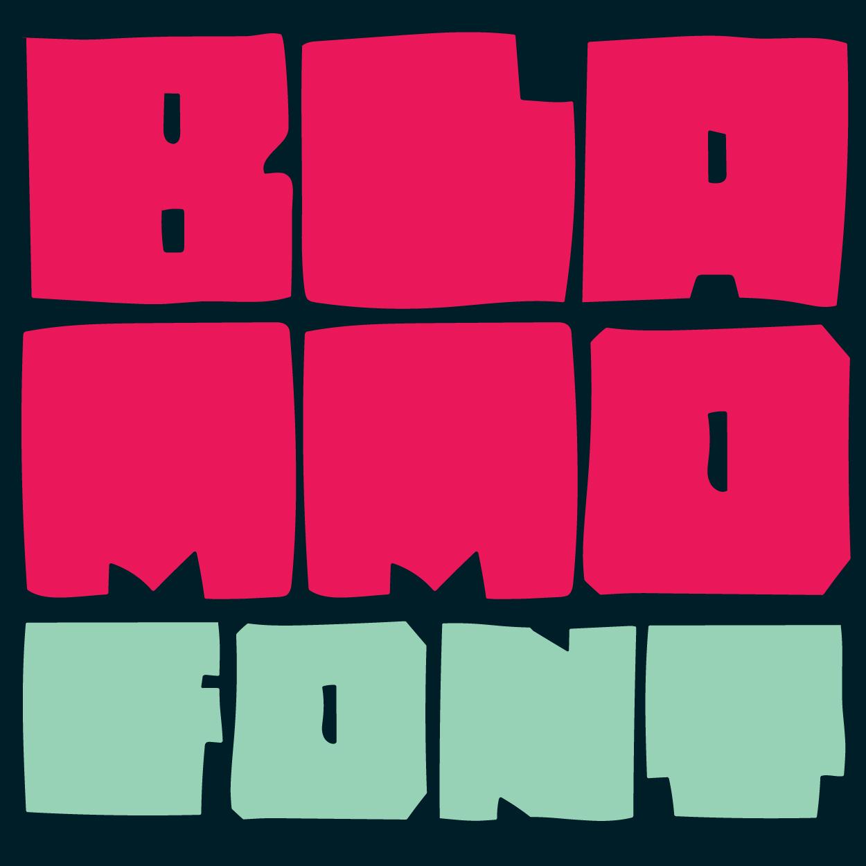 BLAMMO - FONT     Hand drawn chonky display block font.   €5.00