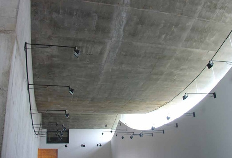 Ceiling of gallery,Five Scattered Houses, Ningbo, China, 2003-2006,Photograph is by Lu Wenyu