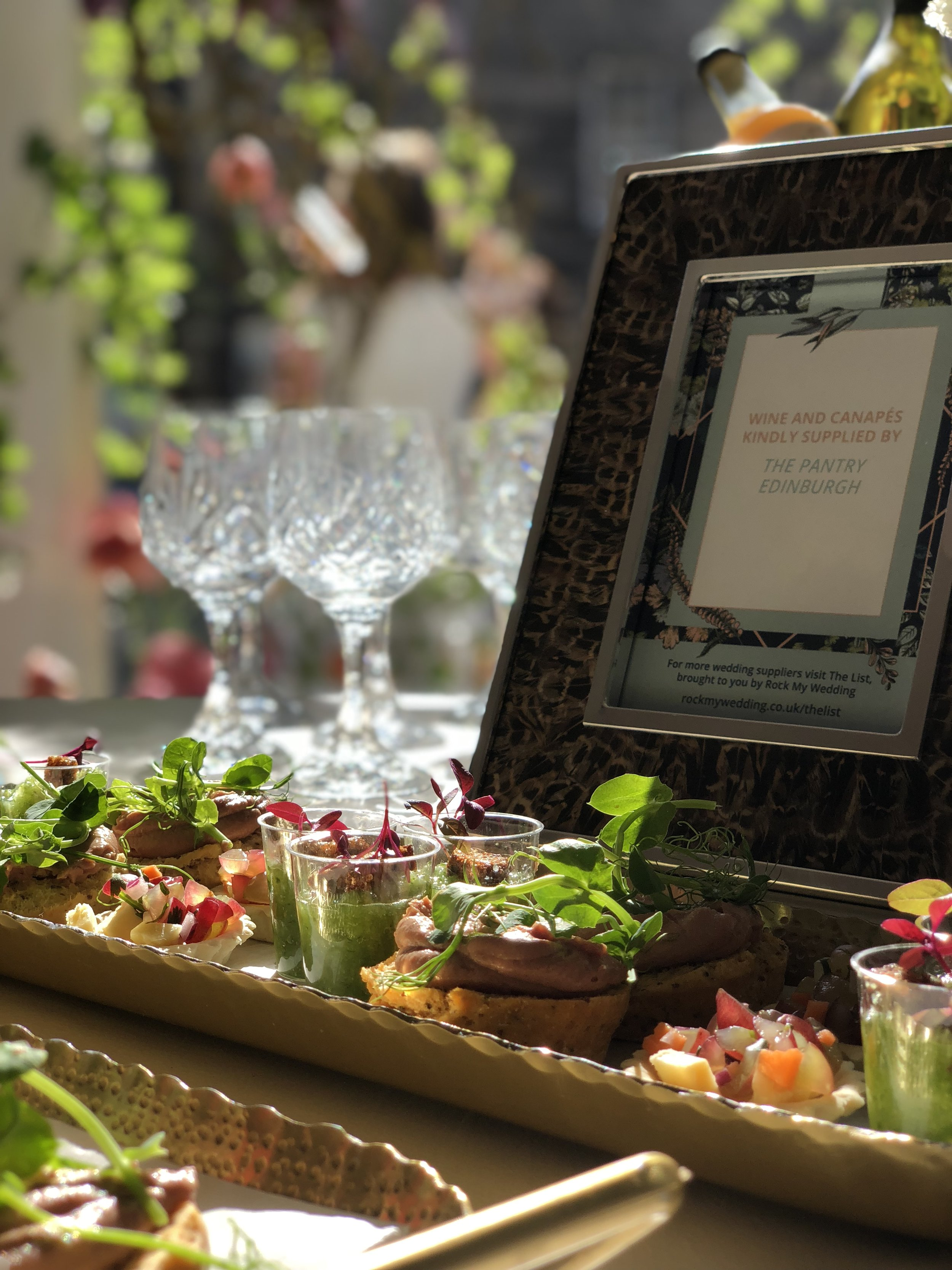 Canapés from a Rock My Wedding Event last year