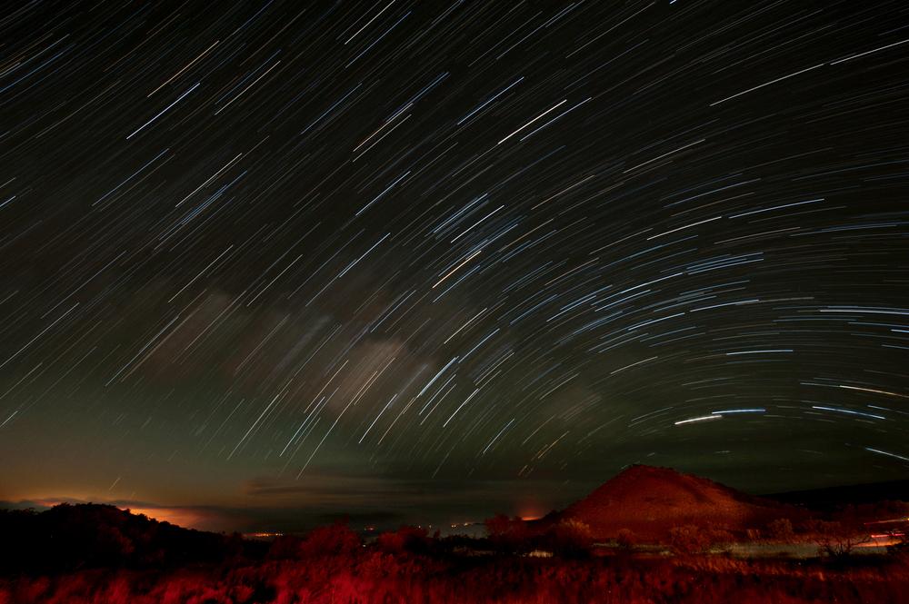 Star trails from Mauna Kea, 2014