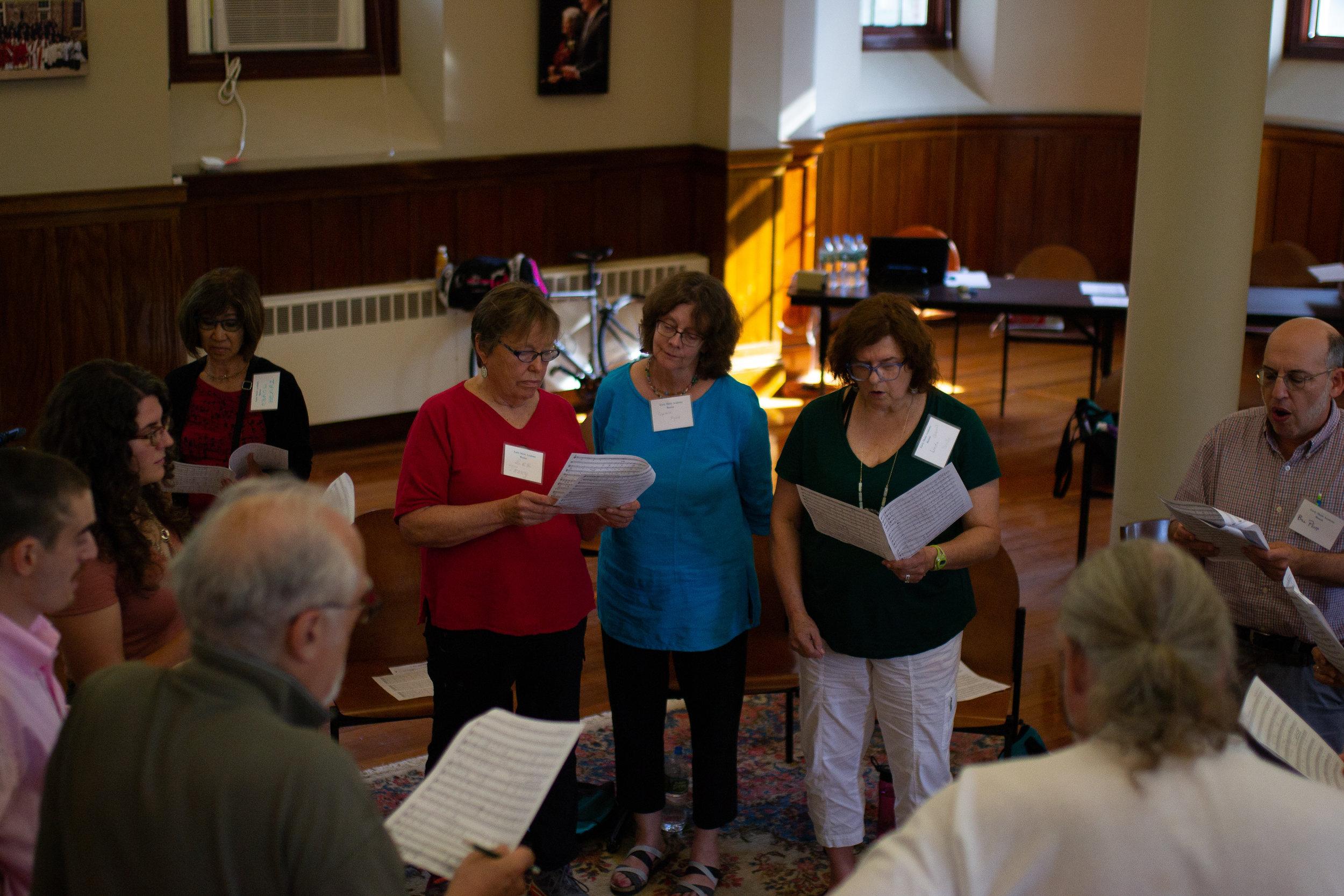 Small group rehearsal Beville Strauss et al.jpg