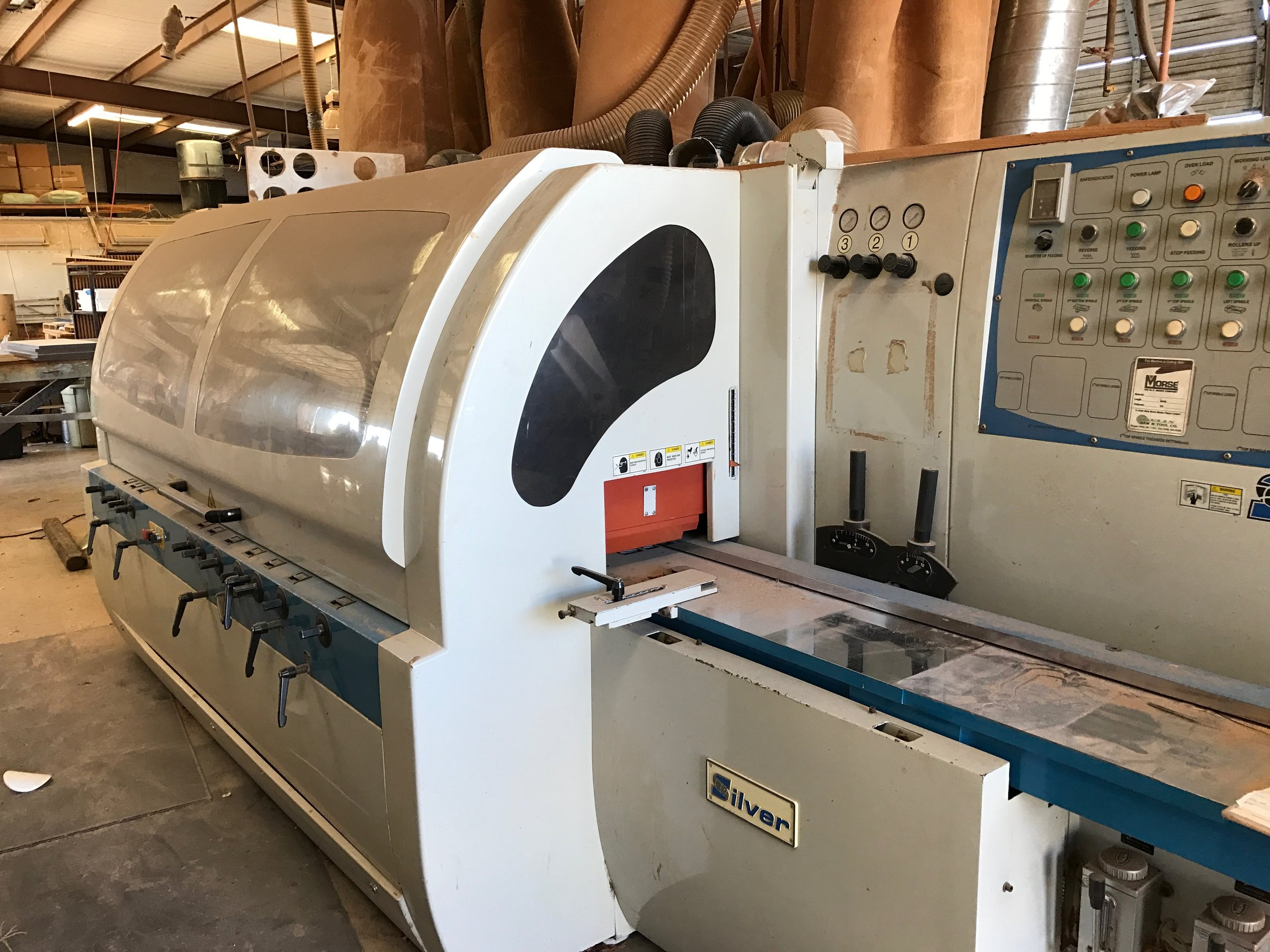 Molding  $120 Per hour  Four sided six head molder: Max 8 inch wide by 7in thick