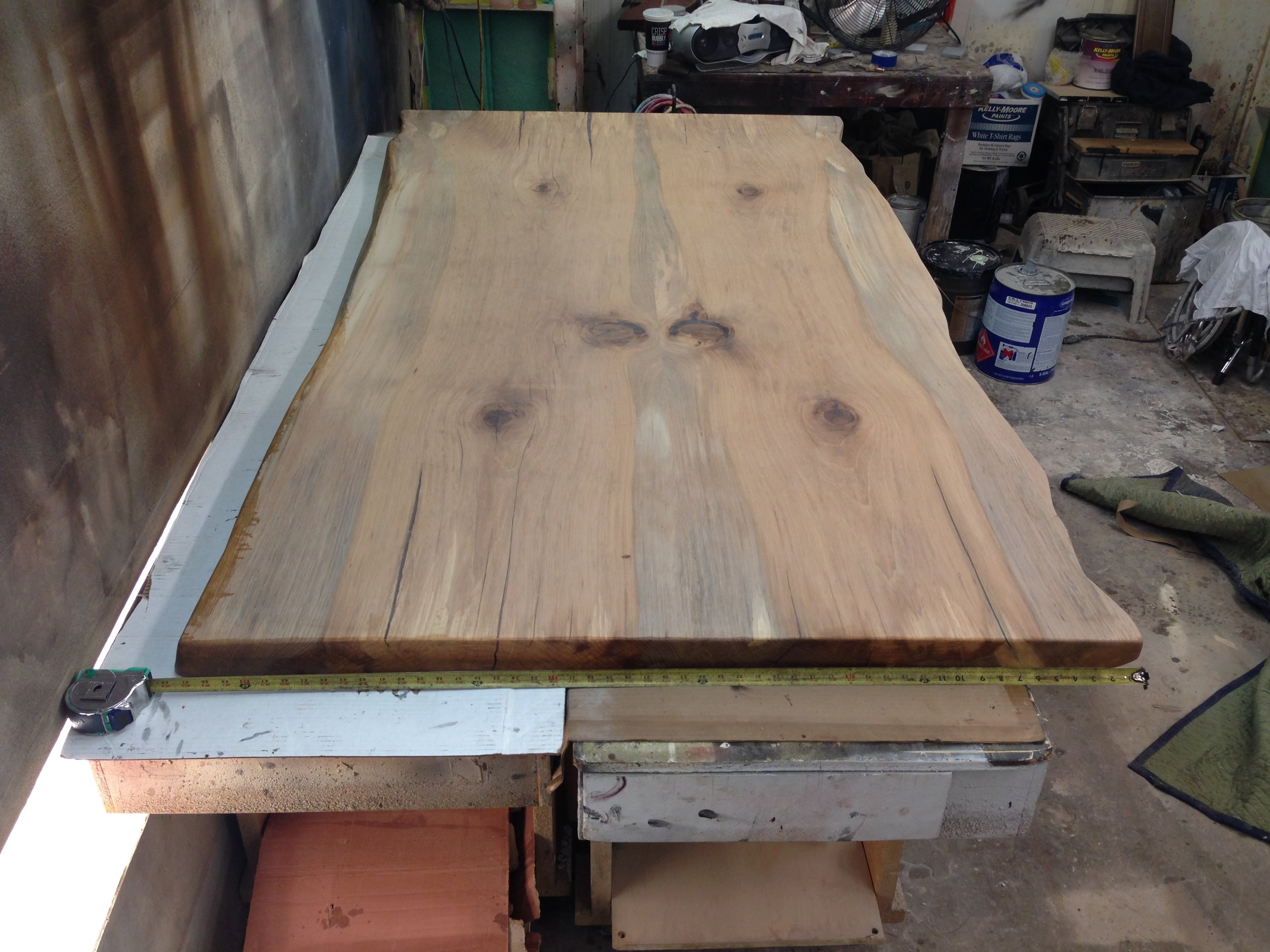 Pecan Book Matched  Slab Table 50in x 94in - Unfinished.jpg