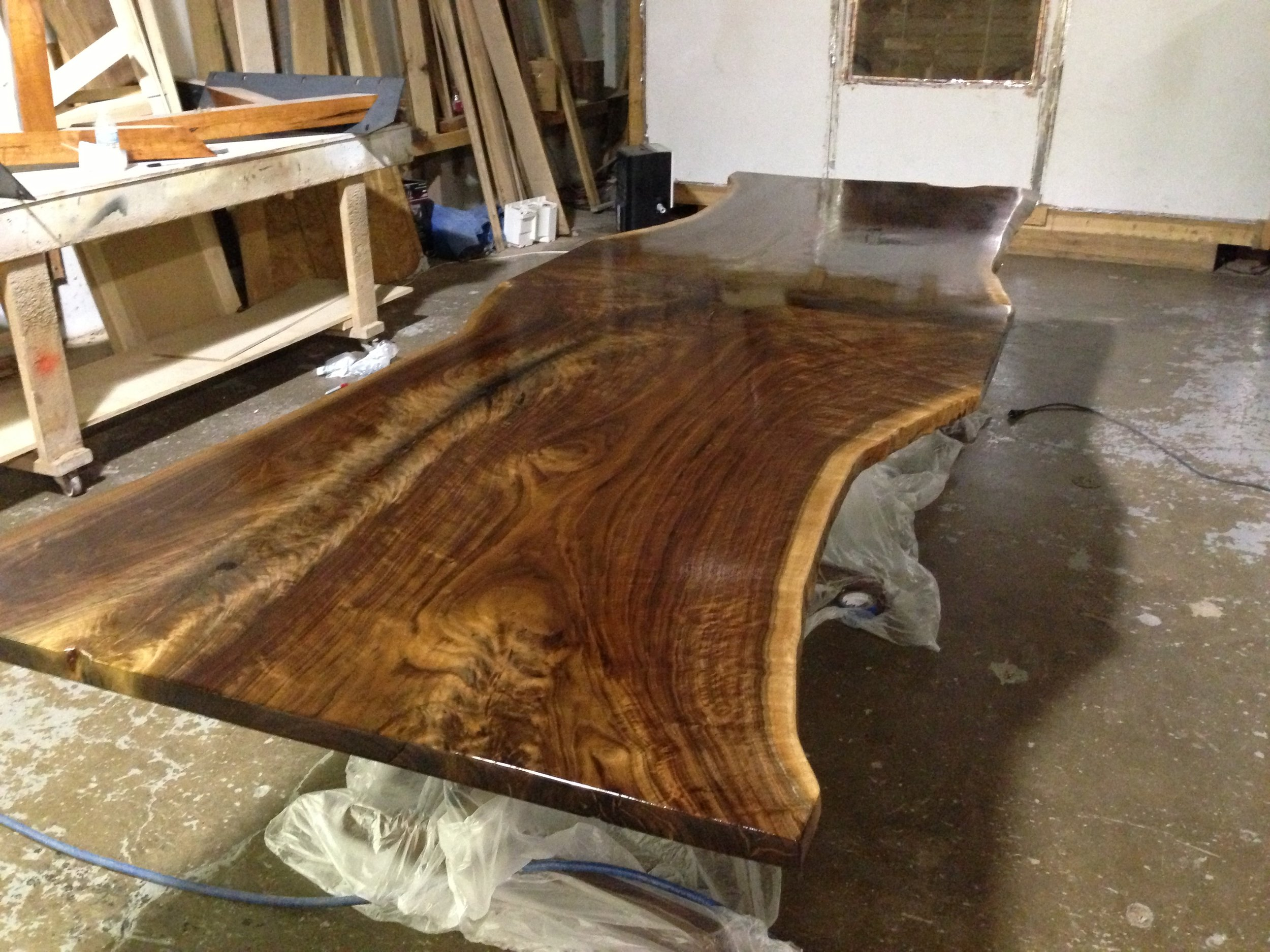Walnut End Matched Dinning Room Table (12).JPG