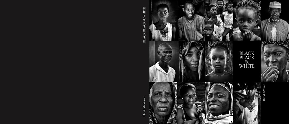 'BLACK BLACK & WHITE'   Photographs in black and white of the faces of Africa and its many and varied peoples.