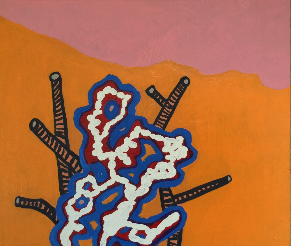"Habitat, 9 x 12"" Acrylic on wood"