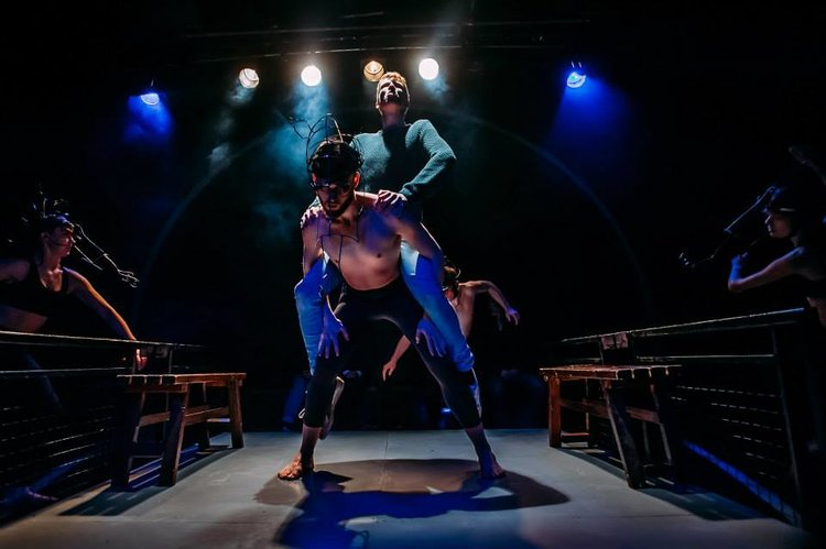 """Still from """"Equus""""  Directed by Emily Aboud  Movement Direction by Samuel Burkett"""