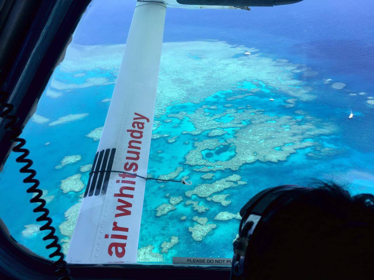 Tour operators will charter seaplanes to fly guests over the reef. The colors are astounding, and changes in depth and darkness depending on the weather and time of day.