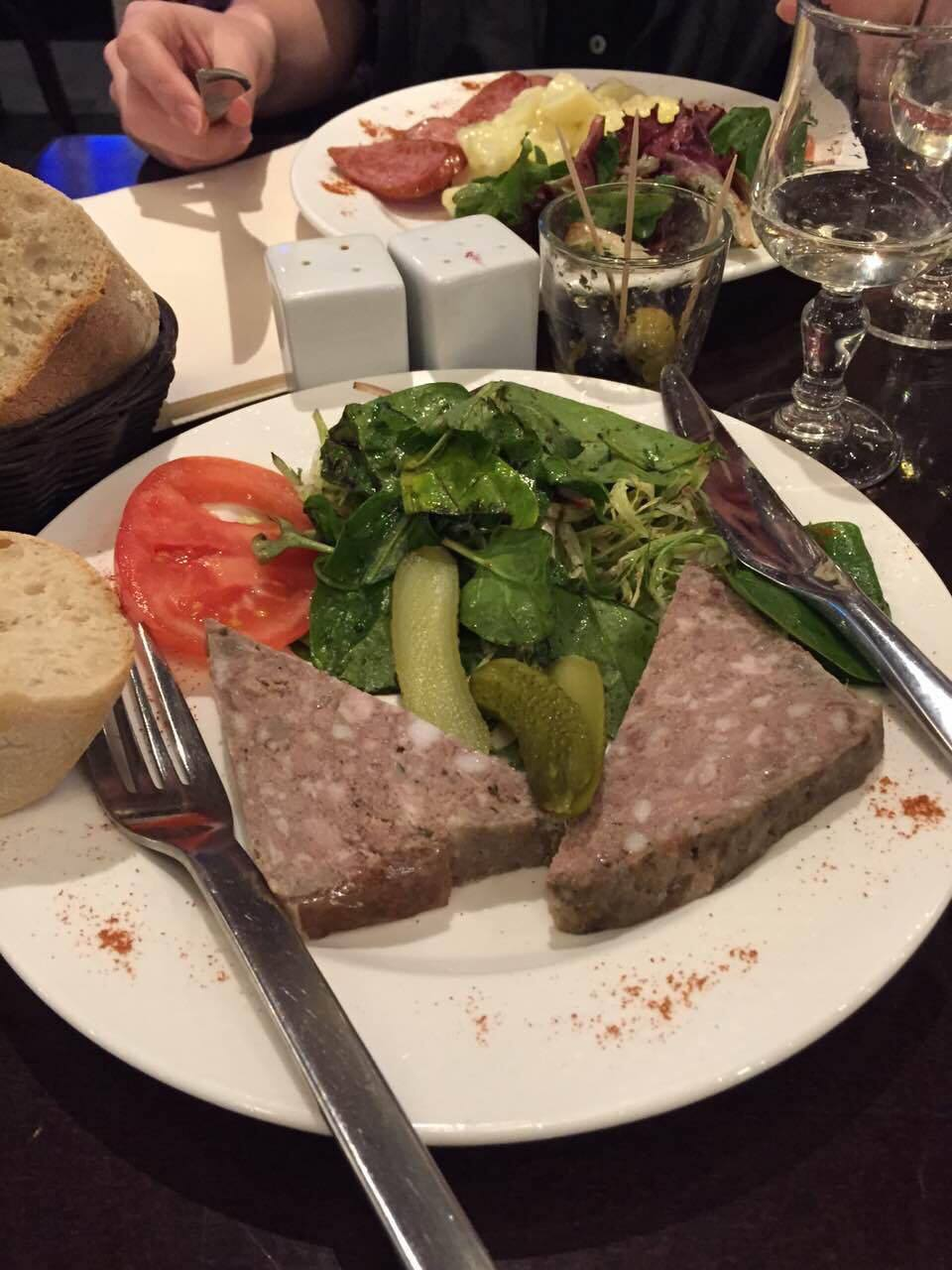 Terrine, longtime favorite though the color may not be the most appealing