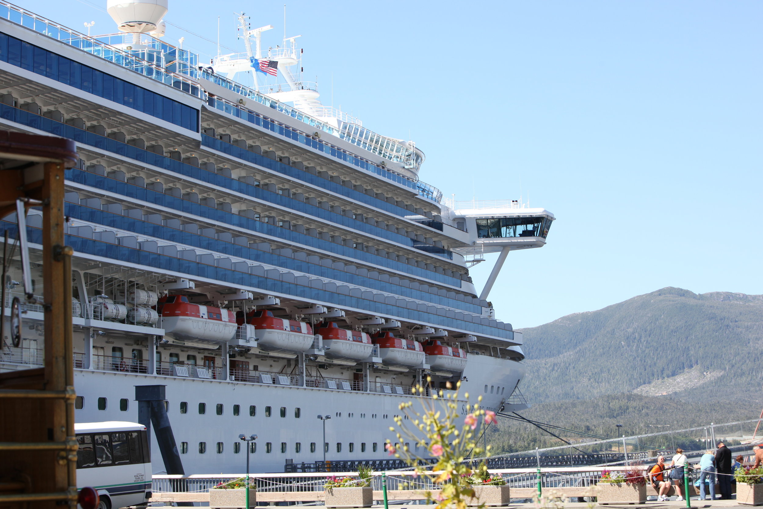 If I recall correctly, the name of our vessel was Sapphire Princess, one of the larger ships Princess owns.