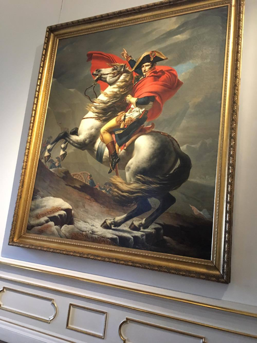 Napoleon Crossing the Alps, by Jacques-Louis David.