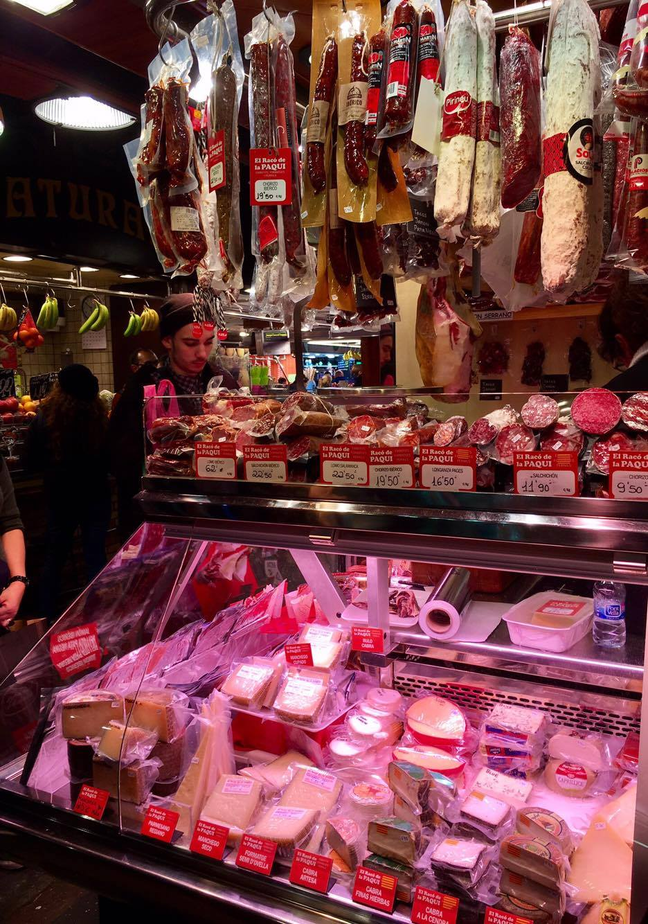 The famed Chorizo sausage, and goat cheese, which is favored in Spain over that made of cow's milk