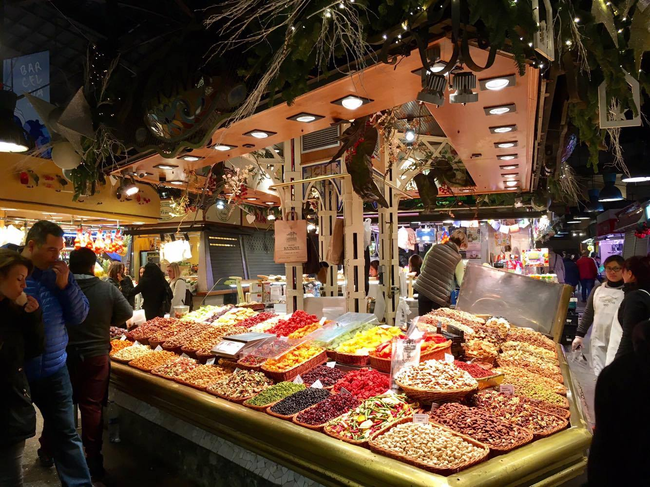 Stall selling local Catalan spices