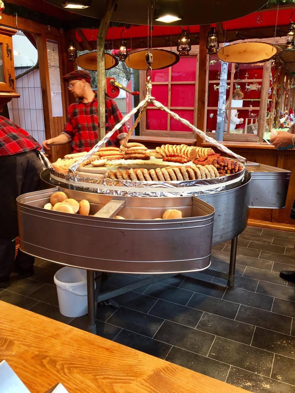 In true German fashion, sausages.