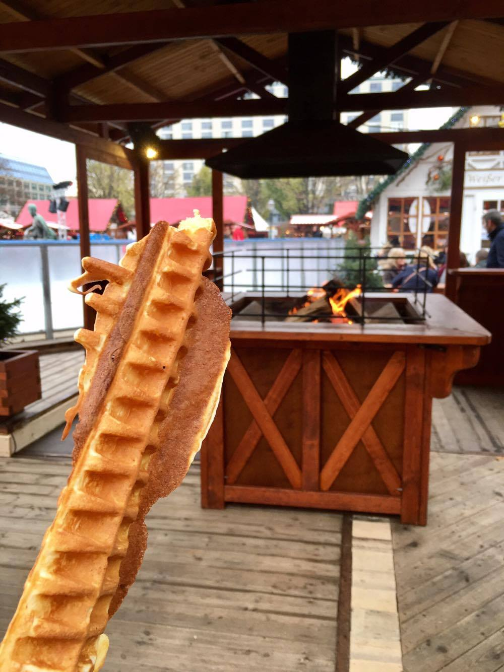 Waffles by a fire? Nothing better.