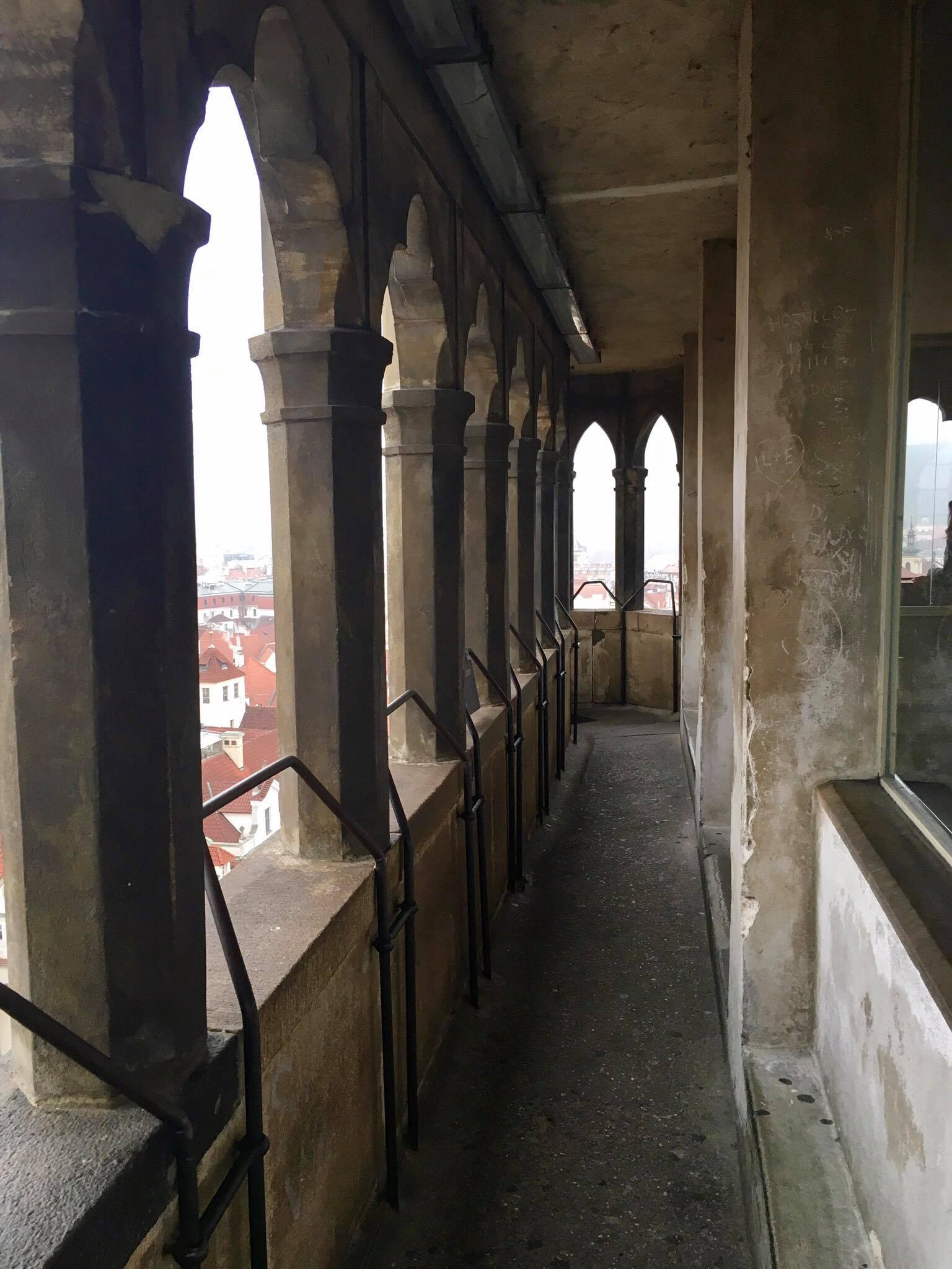 A shot of the surrounding walkway at the top of the tower.