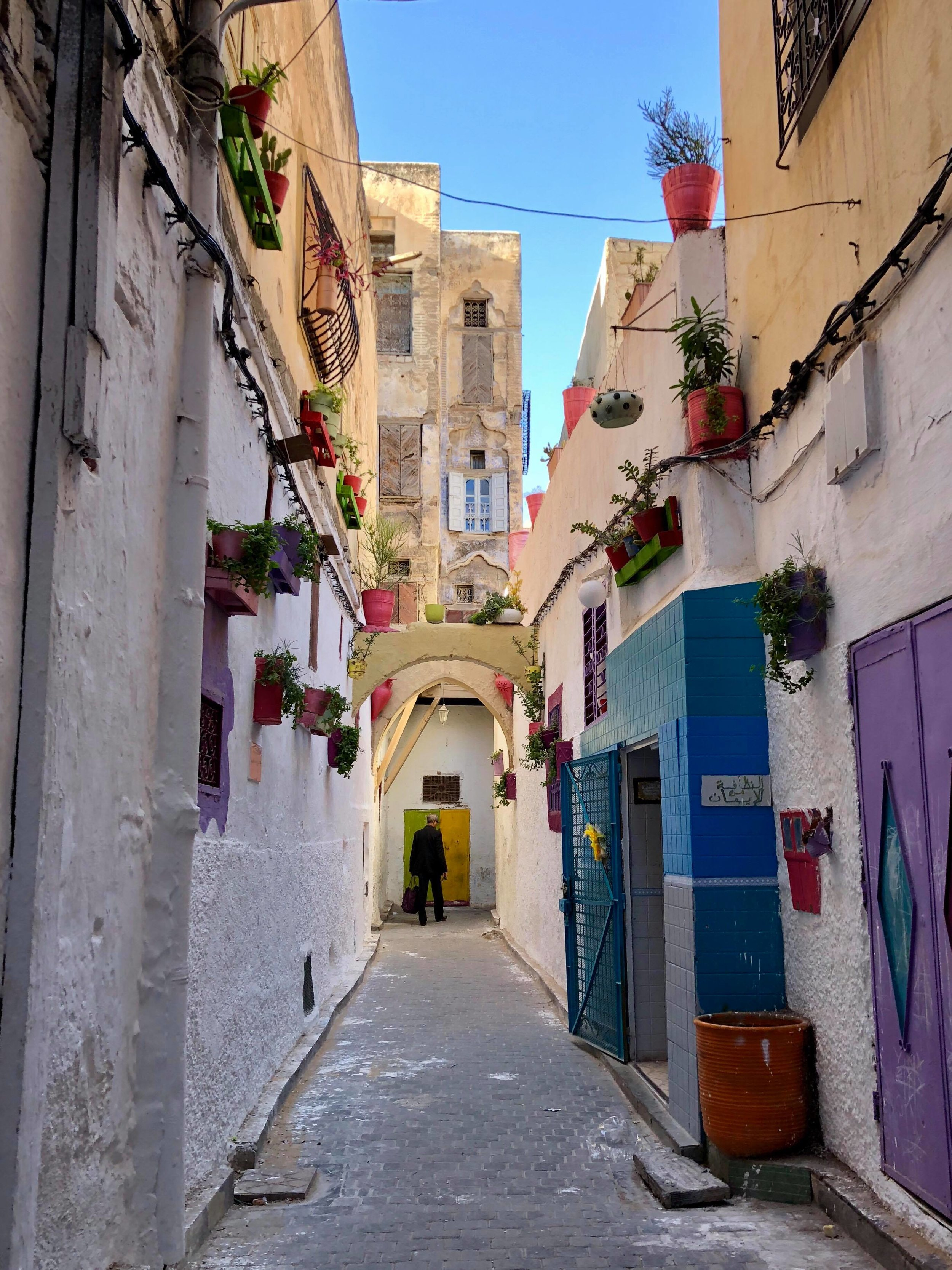 A wondrously colorful corridor in the old  Jewish Quarter.