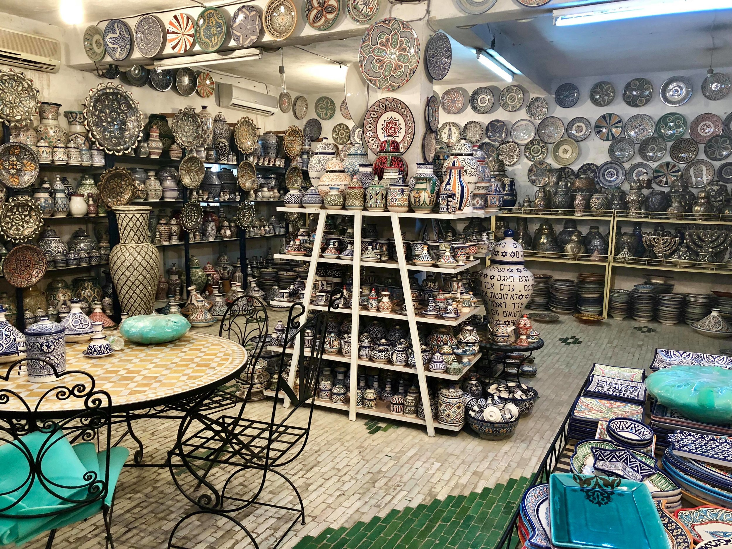 To give an idea of cost, a mosaic dining/patio table such as the one seen below can cost upwards of $2,000 US dollars. Handmade-in-Morocco