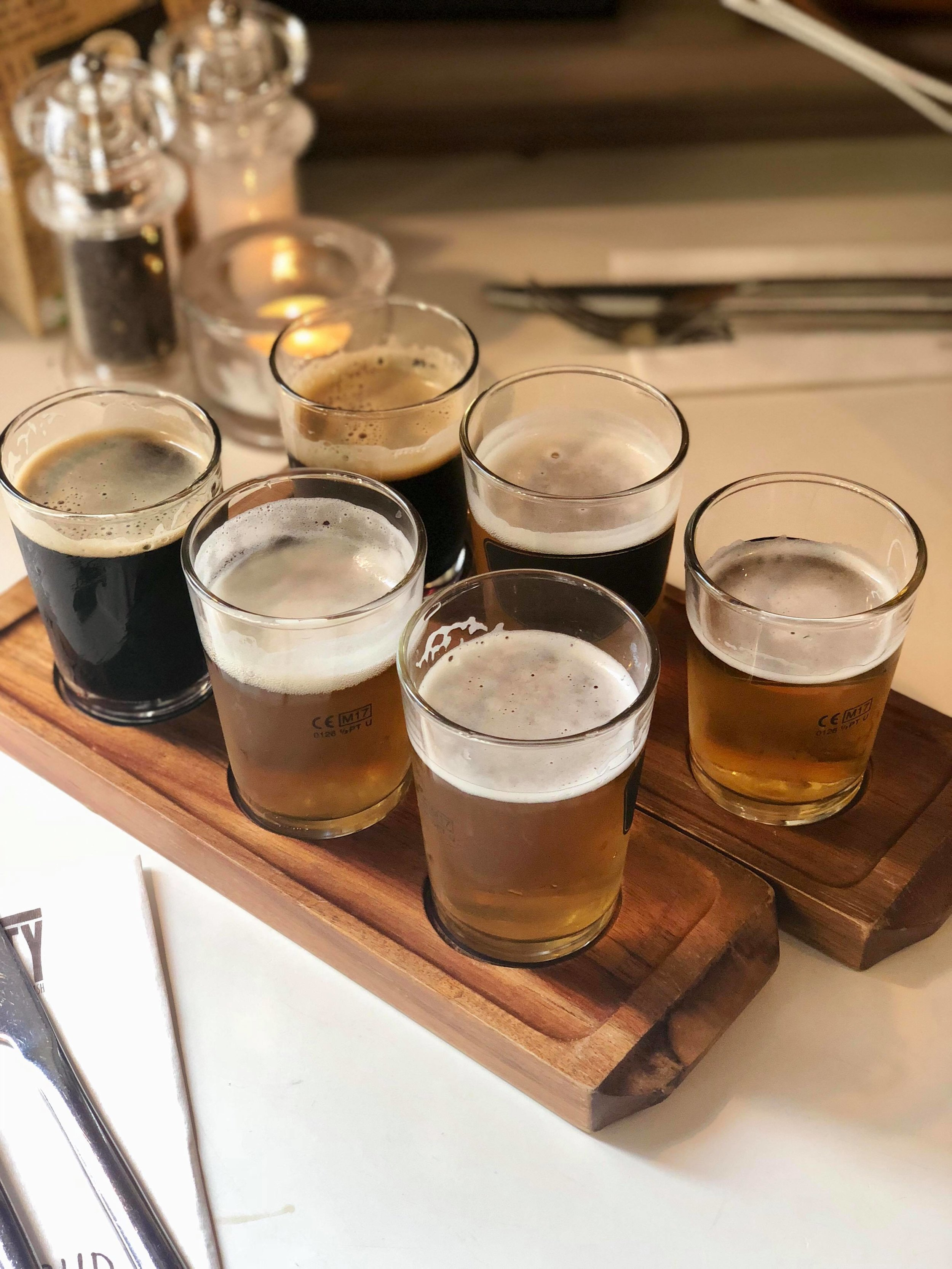 - A sample of their own in-house craft beer selection