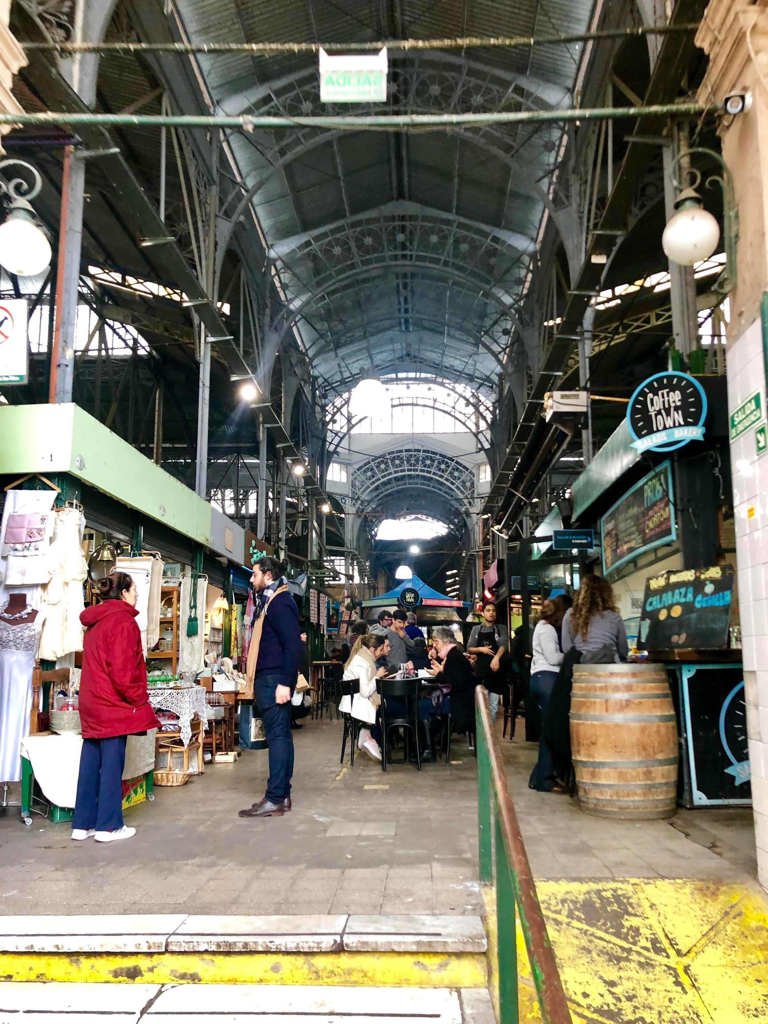 - I believe this is the San Telmo market, one of the largest in the city. The coffee shop on the right, 'Coffee Town,' is known for serving up a great cup of joe if you're in need of a caffeine kick or even need a quick bite to eat.