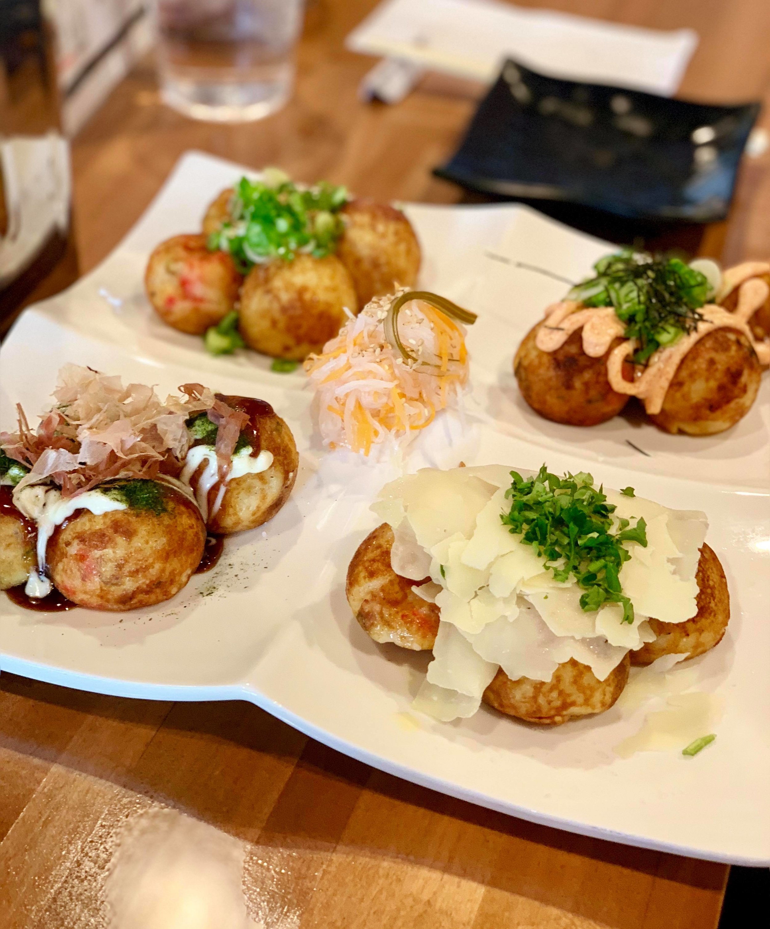- Takoyaki - combination of 4 flavors.