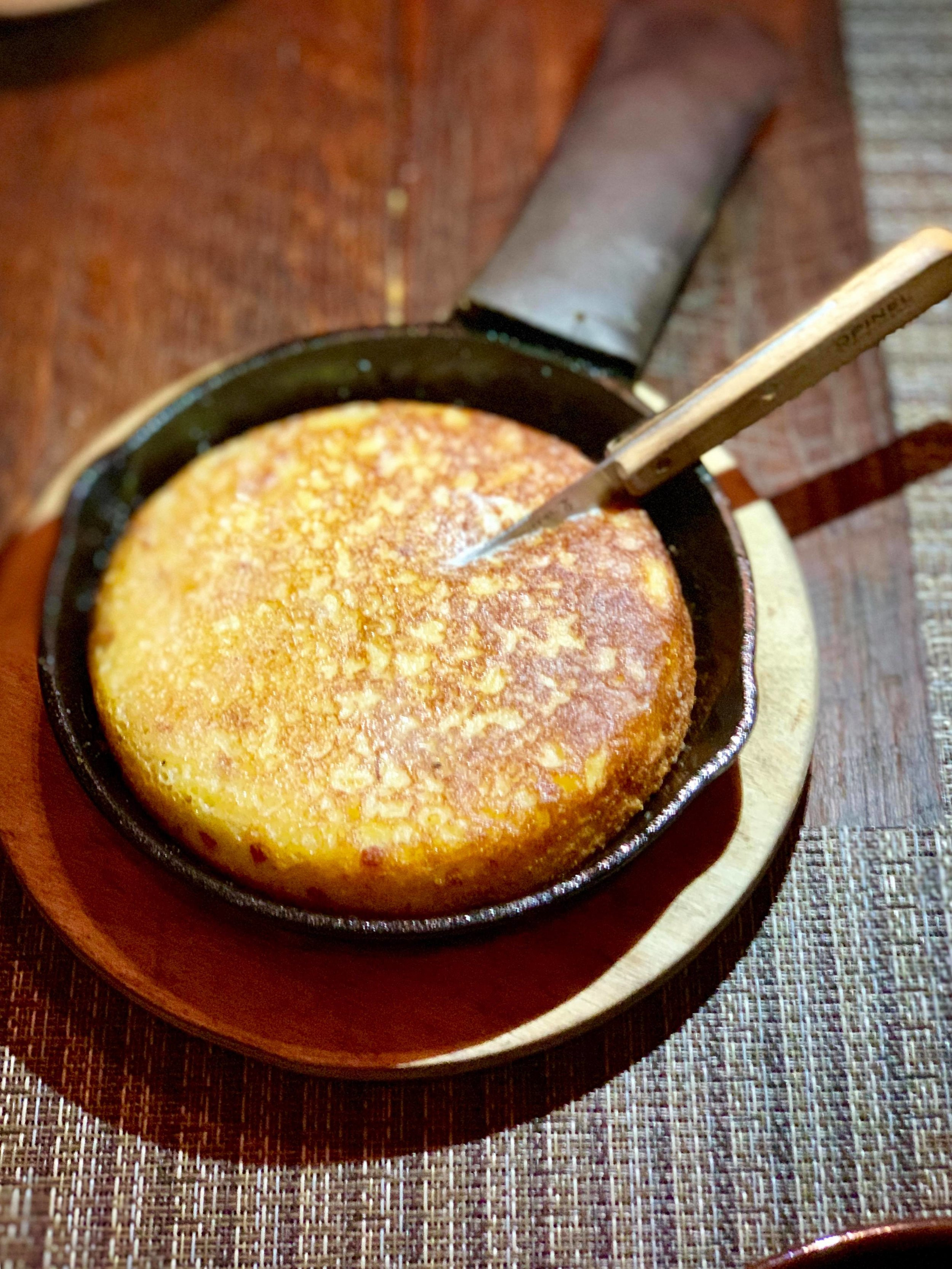 - Cornbread in a skillet to start…