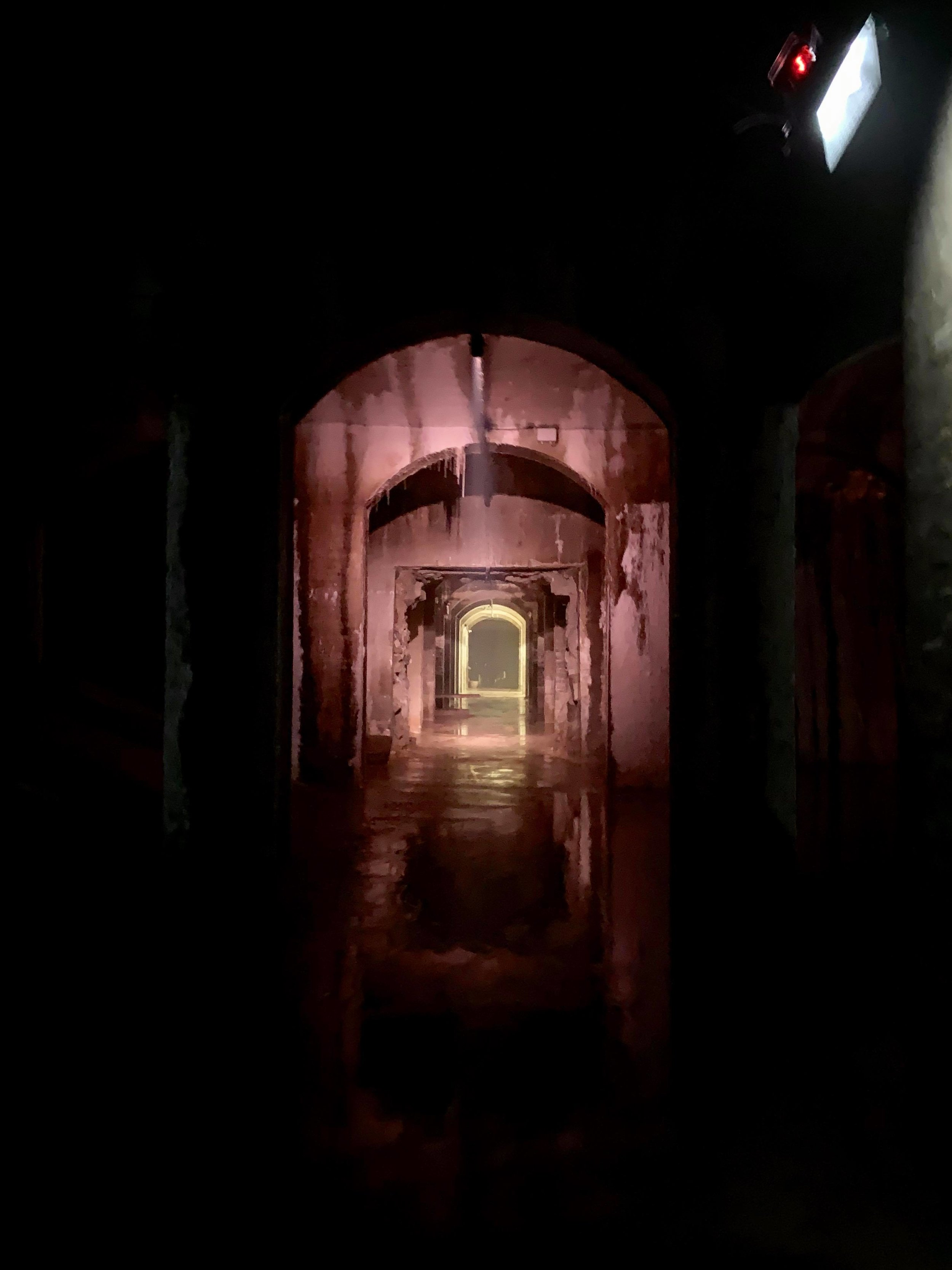 Cold, dark, massive… - a few words that come to mind when wandering around the cisterns. Completed in 1859 and forgotten for centuries, these subterranean chambers reminded me of the catacombs one finds under churches.