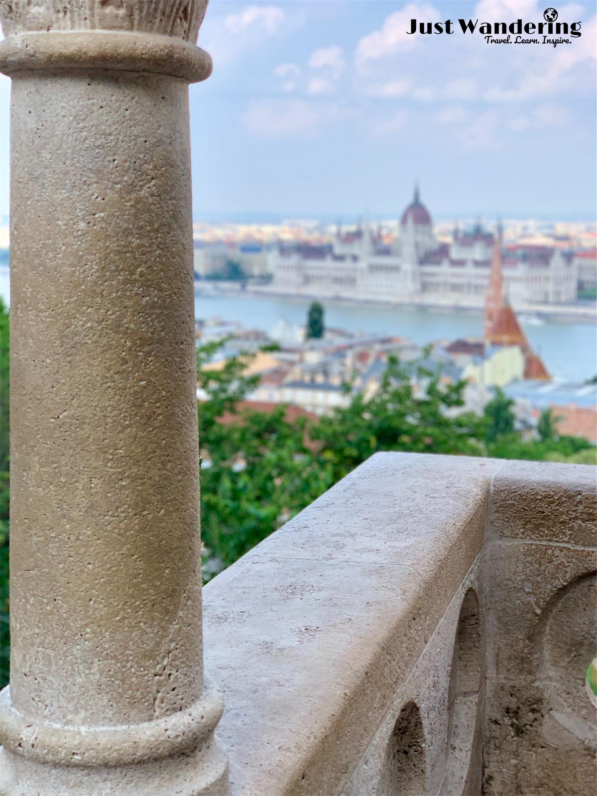 - These are some photos taken from Fisherman's Bastion, across the Danube, that looks down to the entirety of the parliament building (in the background).