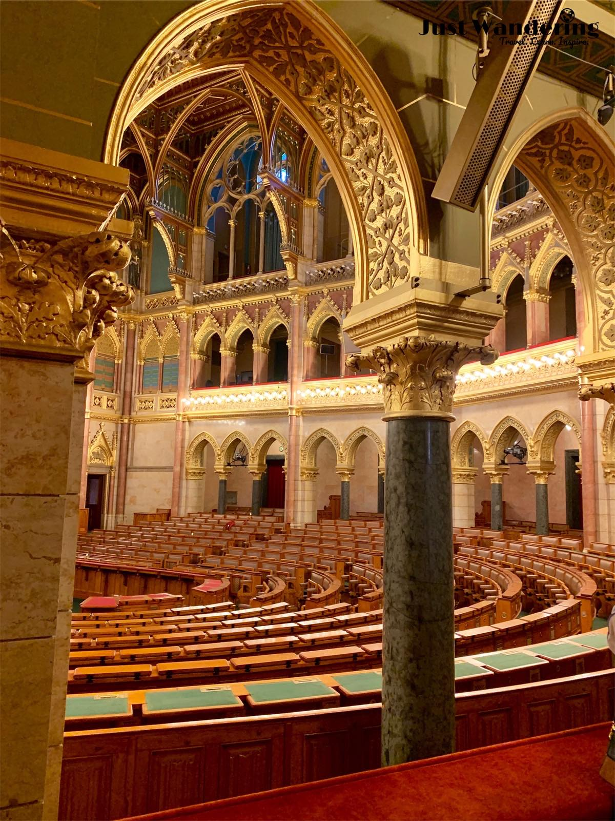 - A highlight of the tour is the majestic assembly hall of Hungary's National Assembly.
