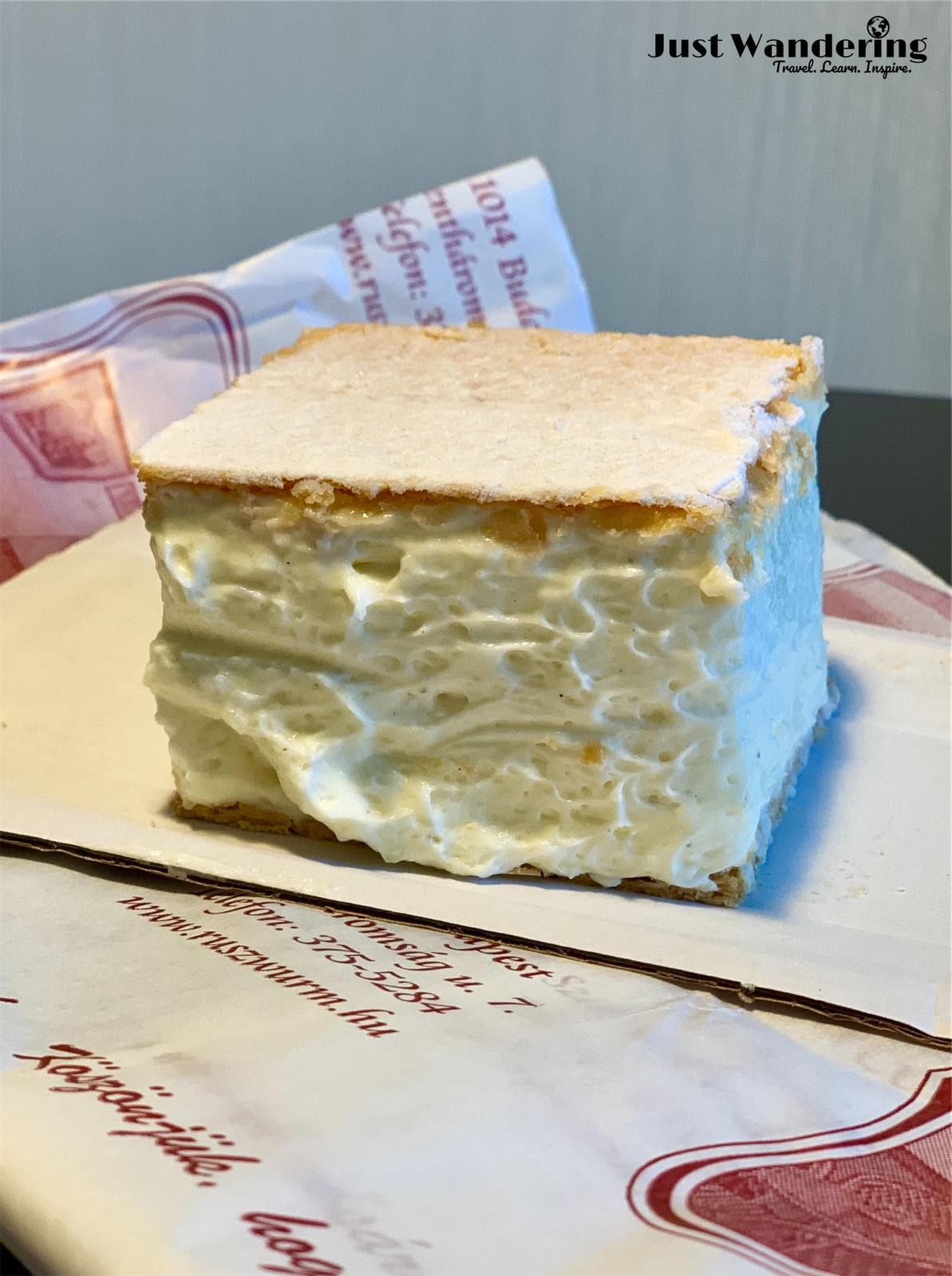 - Regardless, the famed Cream pastry is a must try when in the Buda Castle district. A Hungarian classic originating from Ruszwurm and their most popular dessert today, this decadent cake features a custard like combination of cooked egg cream, vanilla, and egg white generously nestled between two thin layers of phyllo pastry.Though somewhat sweet, definitely worth a try for anyone who is a fan of vanilla and cream, although it is a bit on the heavy side, so perhaps best shared between a couple or among friends. The confectionery itself is also a cafe with indoor and outdoor seating, so why not spend an hour sitting outside the shop, and watch as the throngs of tourists come and go from nearby Fisherman's Bastion?