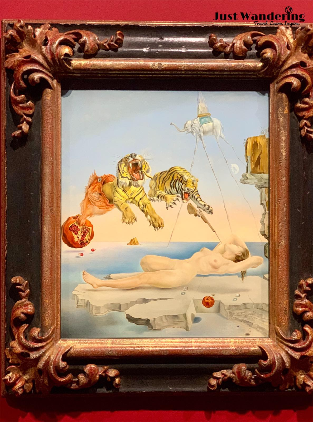 - Dream Caused by the Flight of a Bee Around a Pomegranate a Second Before Awakening1944, Oil on woodSalvador Dalí