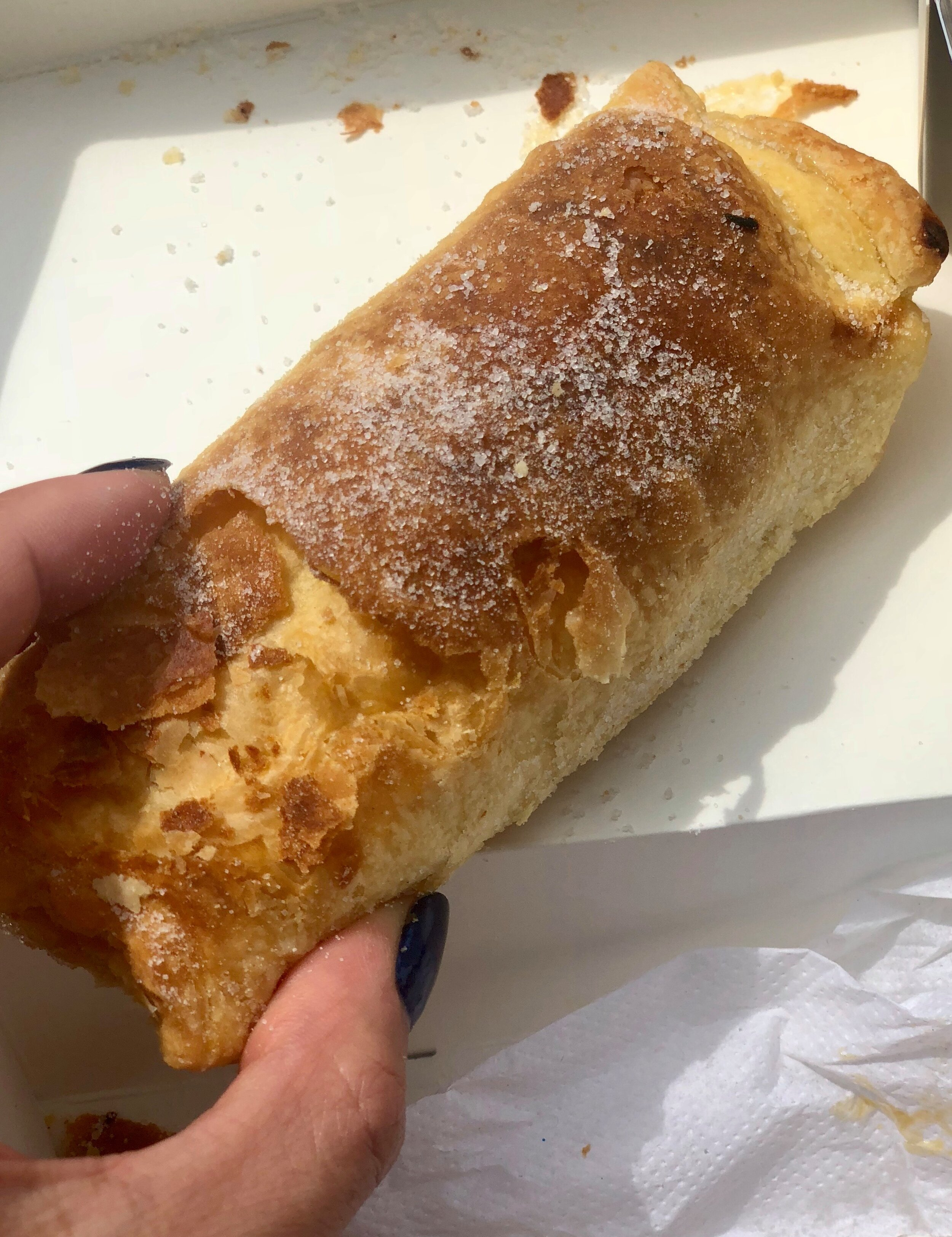 Travesseiros of Piriquita… - …is the must-try pastry here. Made on-site, this flaky, almond cream filled pastry is what Piriquita, and the town, is known for in similar fashion to the Pasteis de Belem