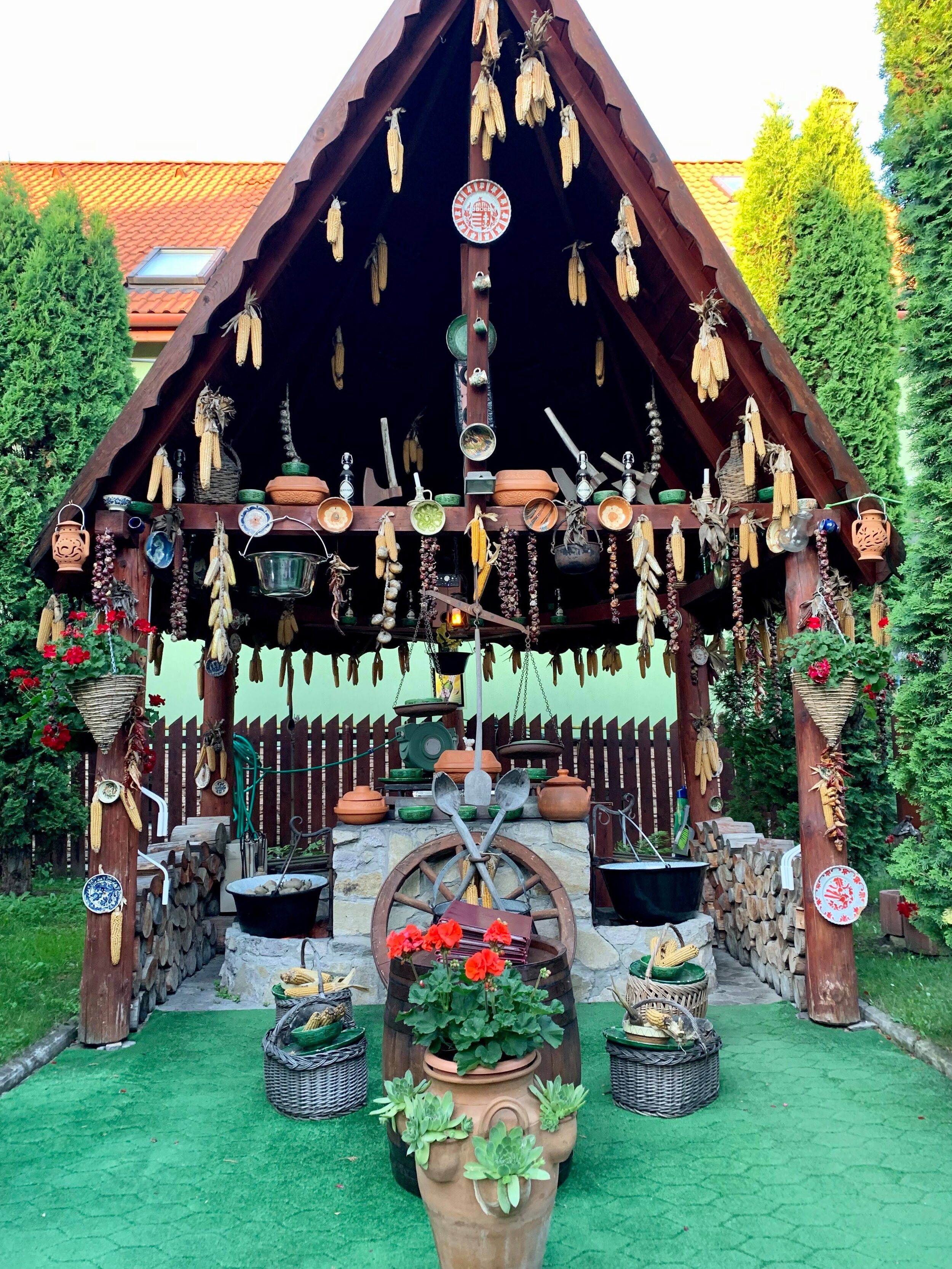 To eat… - A highly recommended traditional jaunt in the city - Gambrinus - serves up great Hungarian fare in a lush courtyard setting, contrasted with its much more traditional decor indoors.