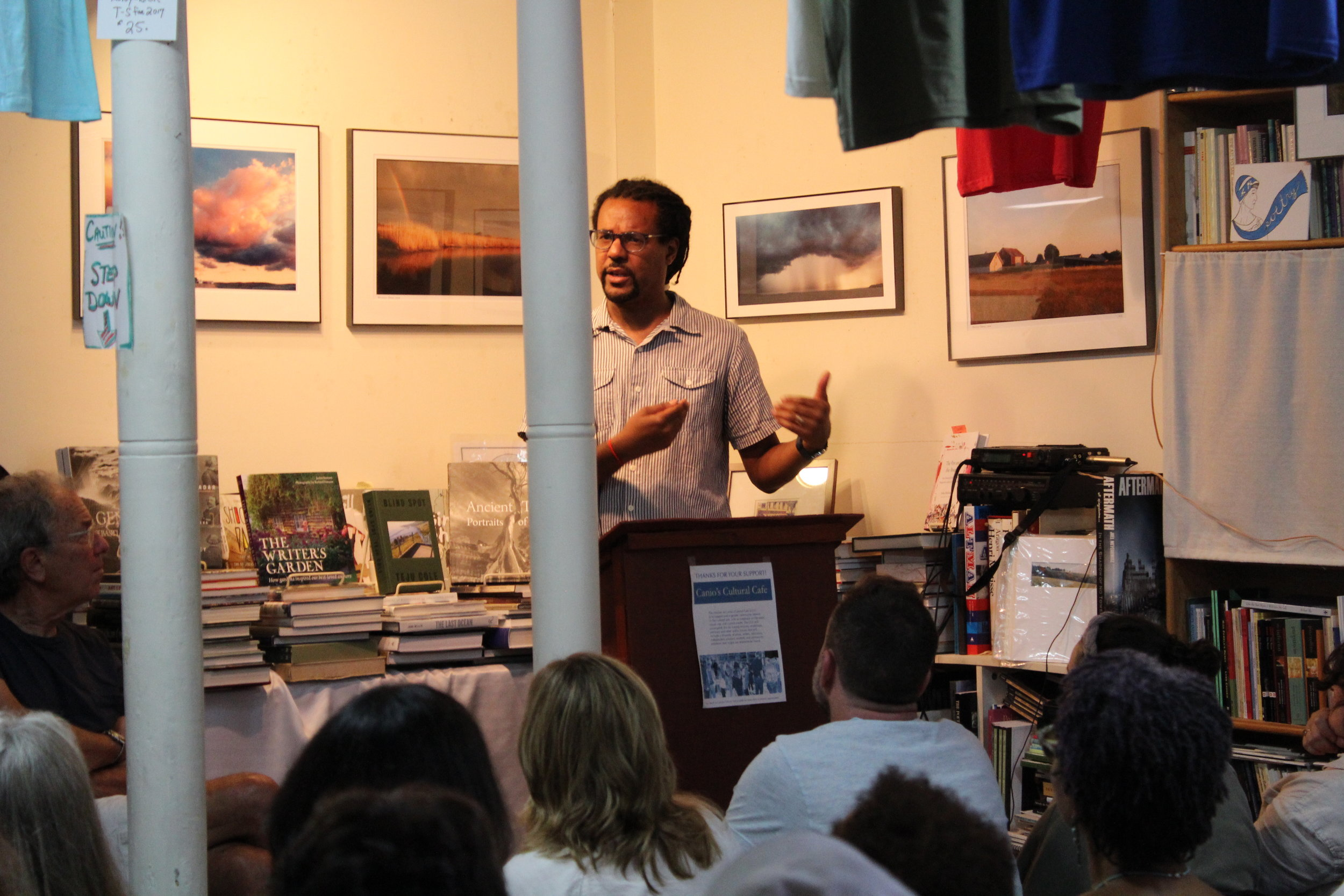 """Colson Whitehead Given Hometown Welcome - Esteemed author discusses his latest novel, """"The Underground Railroad."""" The Southampton Press, August 2017."""