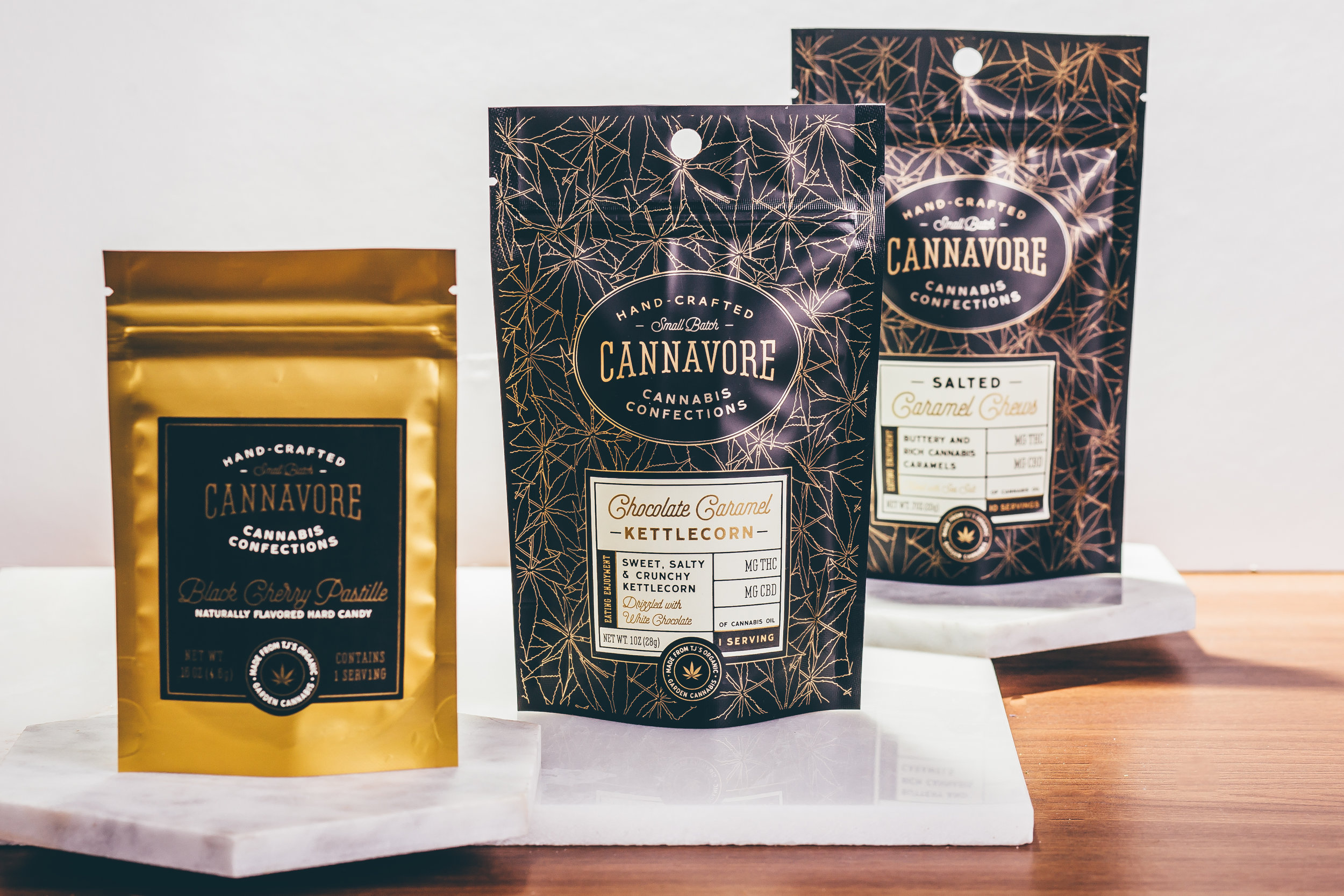 """Cannavore, Edibles Brand - Cannavore creates award-winning, artisan confections that are delicious and properly dosed. Cannavore chefs use small-batch, lab-tested, natural ingredients. Cannavore was recognized for the brand's identity and package design by High Times Magazine in their article """"21 Cannabis Brand To Watch.""""Visit Site"""