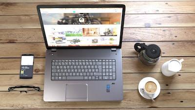 Coffee Creamer Coffee Pot Phone Laptop Mug
